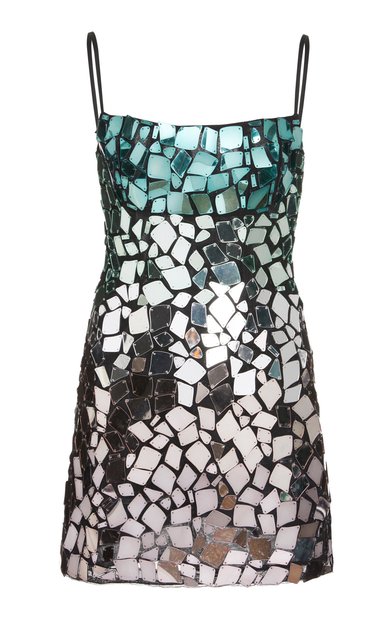 Rachel Gilbert ALEXI EMBELLISHED OMBRE DRESS