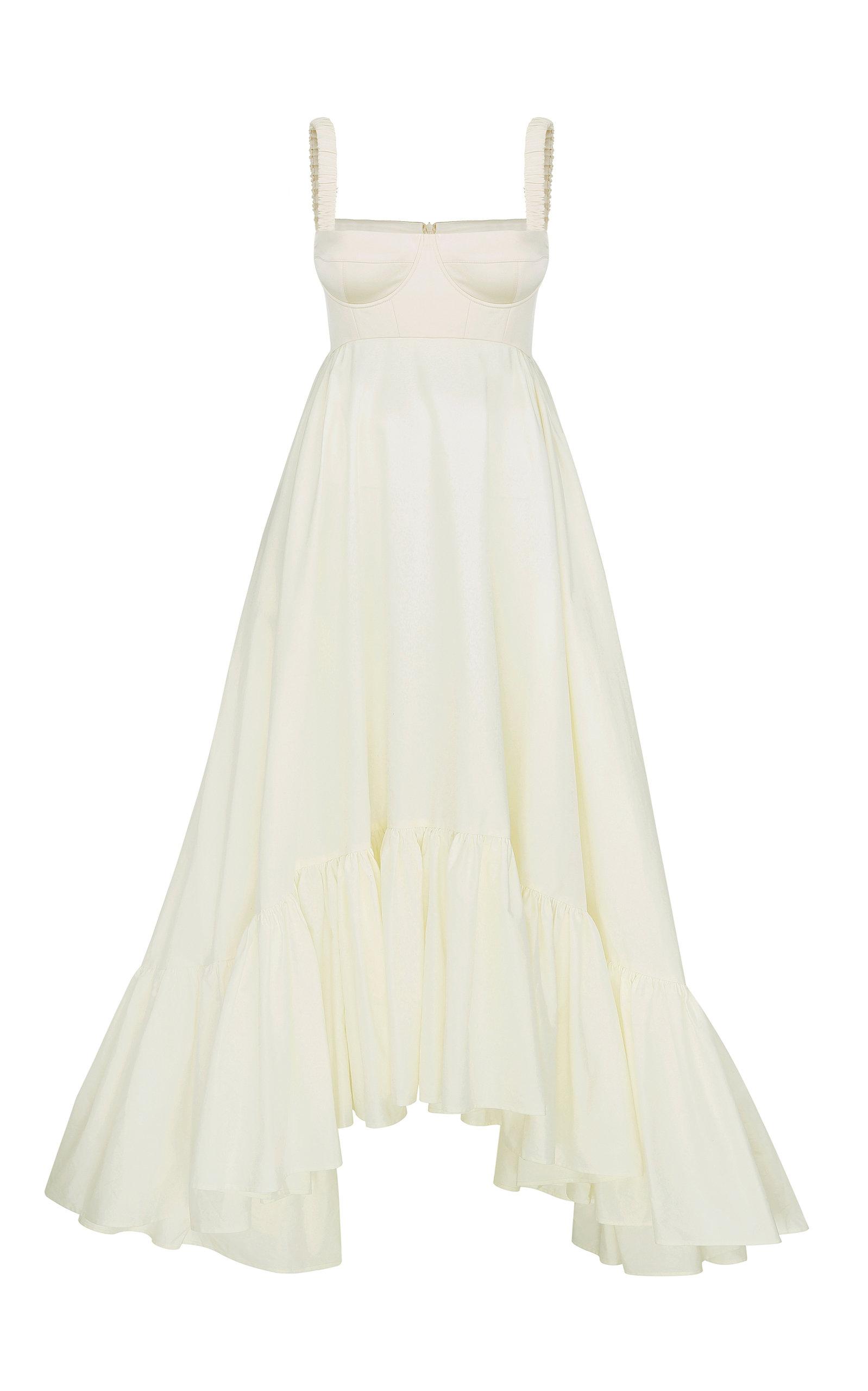 Women's Snowdrop Asymmetric Cotton-Blend Maxi Dress