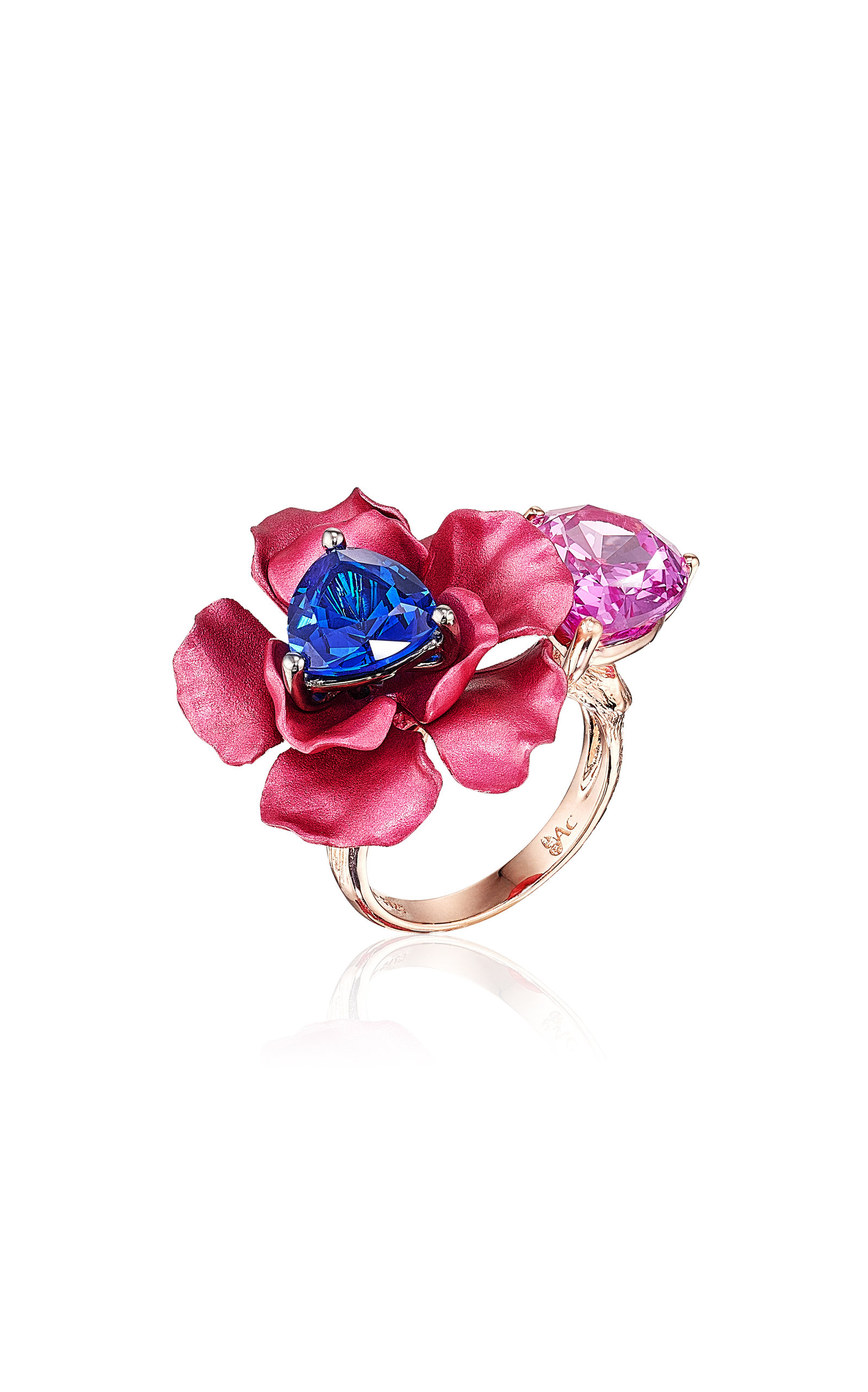 Women's Bloom 18K Rose Gold Sapphire Ring