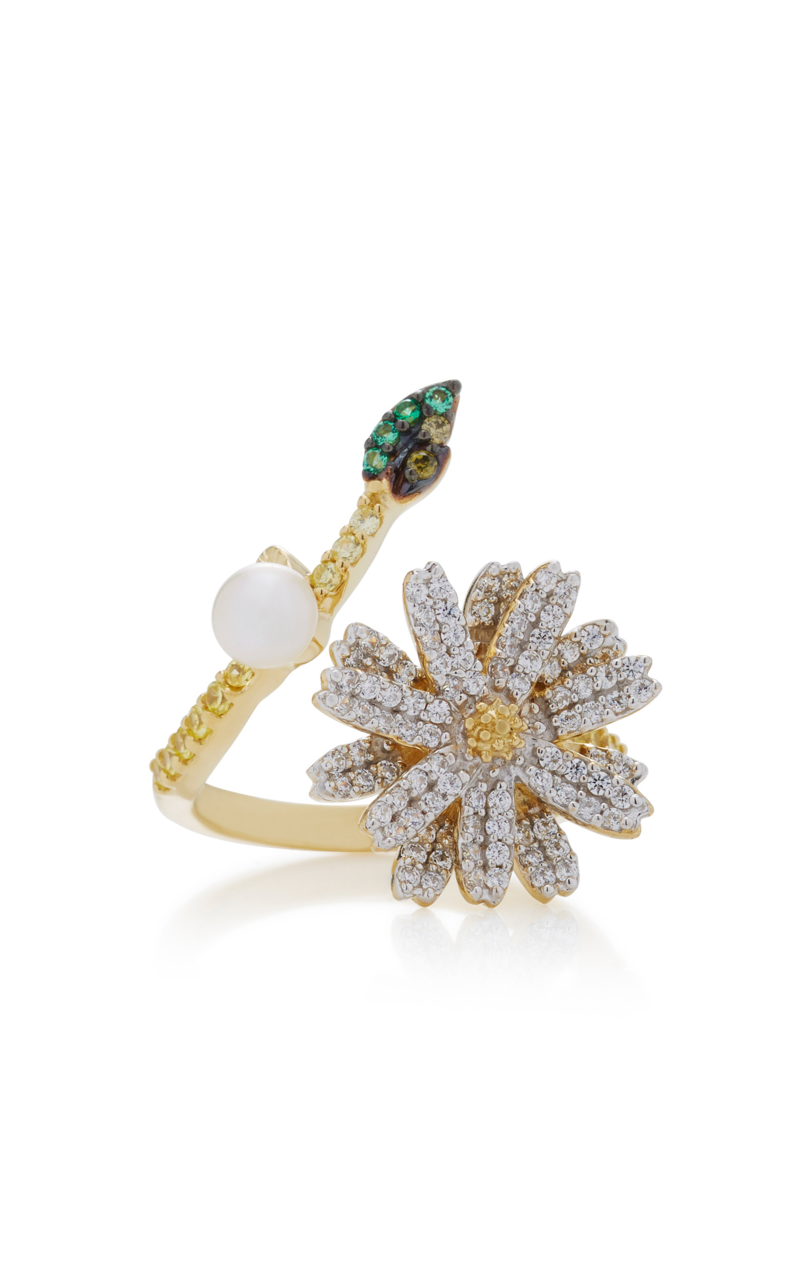Women's 18K Gold Vermeil And Multi-Stone Ring