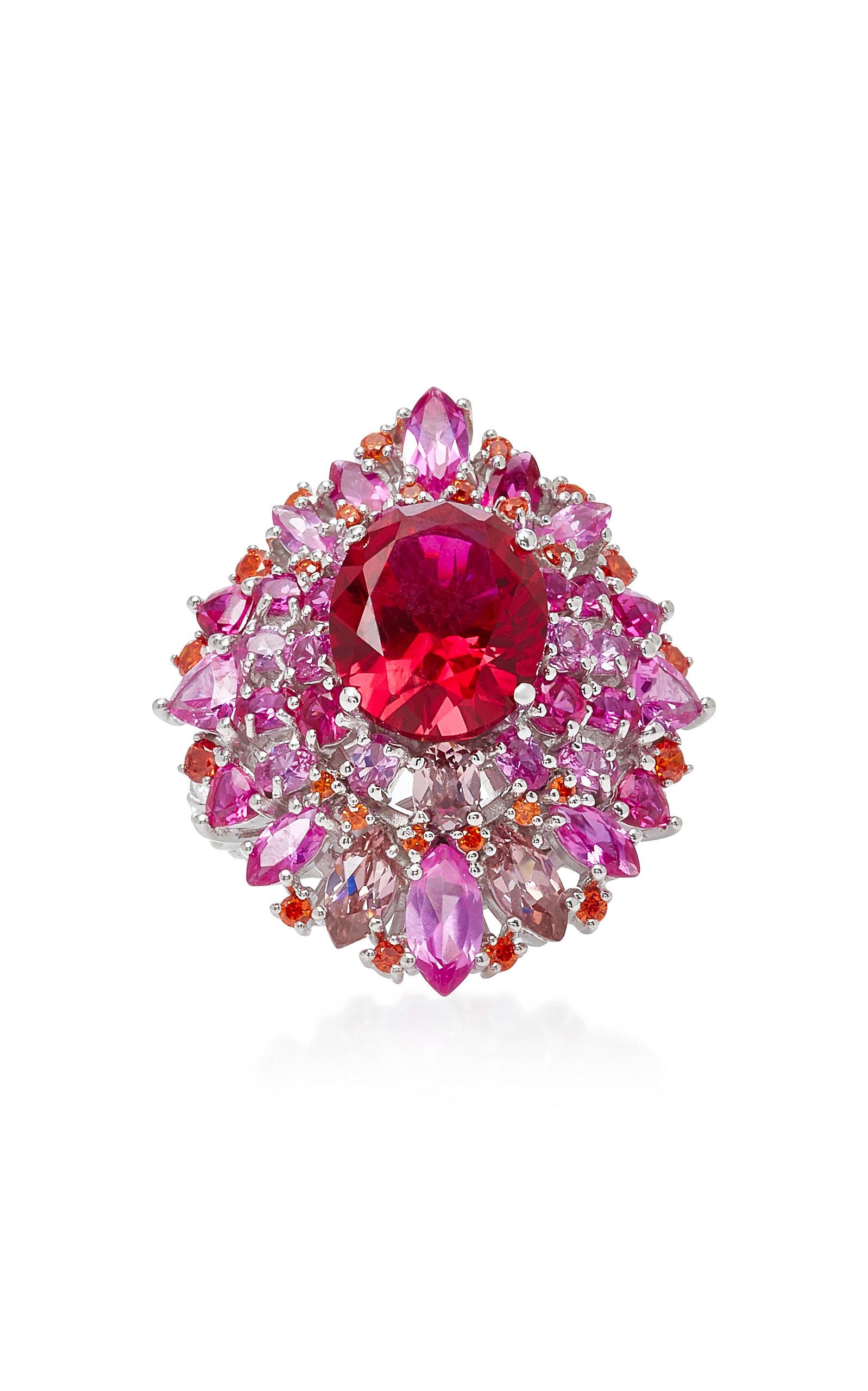 Women's Mirage Ruby 18K White Gold Vermeil Ring
