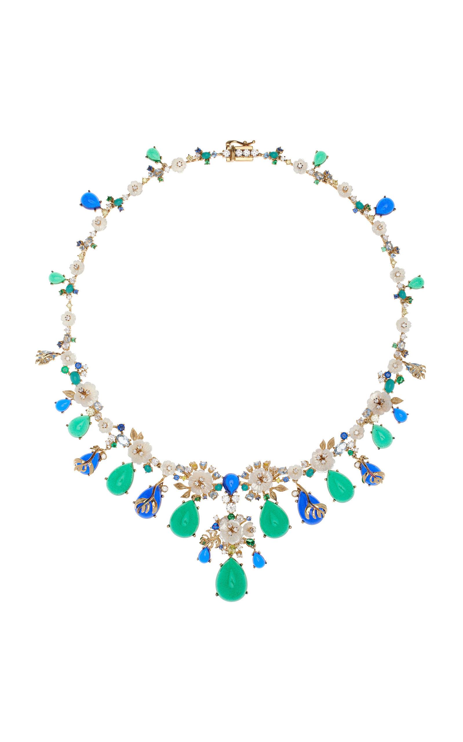 Women's Paradise Emerald 18K Gold Vermeil Necklace