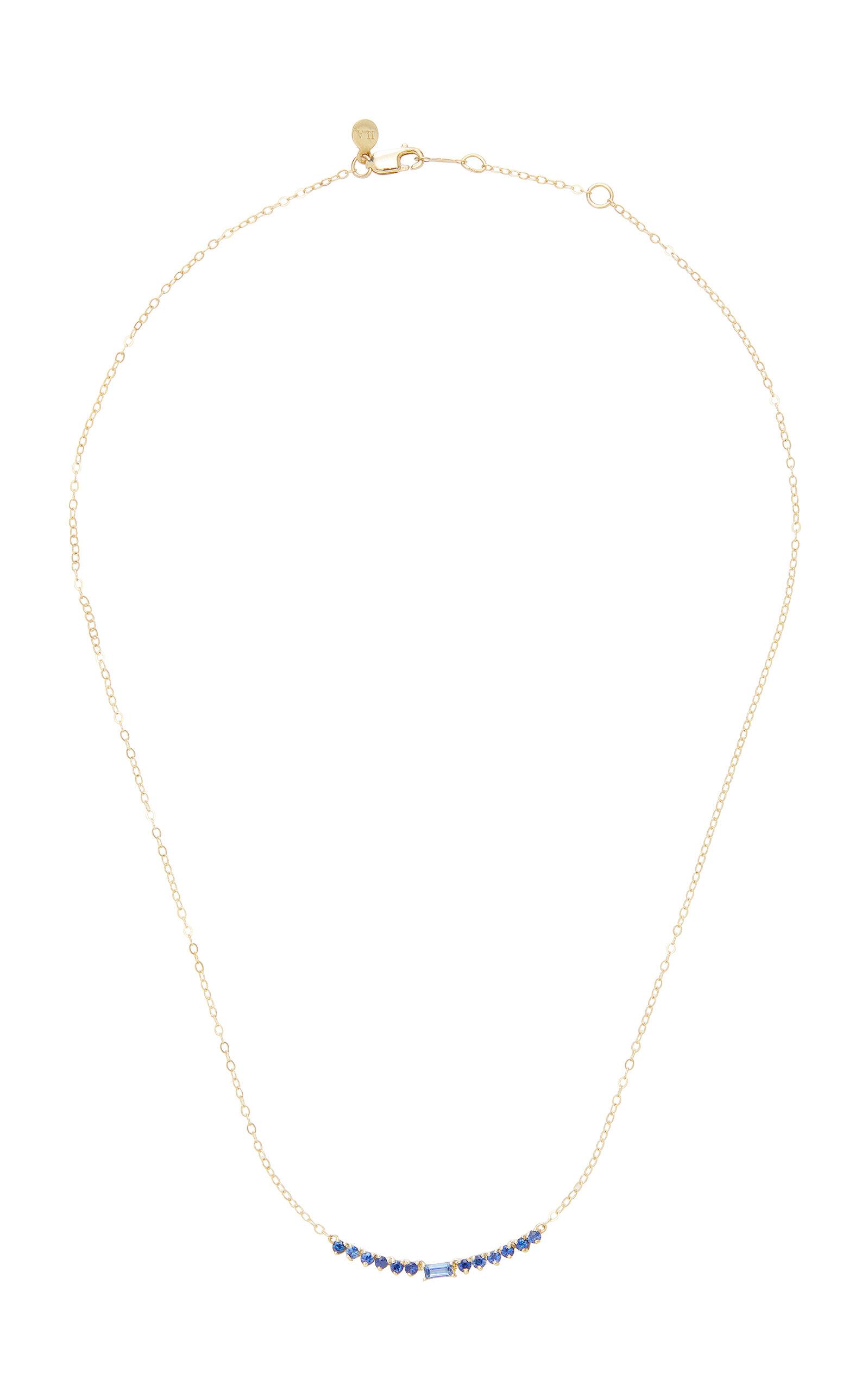 Women's Noemi 14K Gold Blue Sapphire Necklace