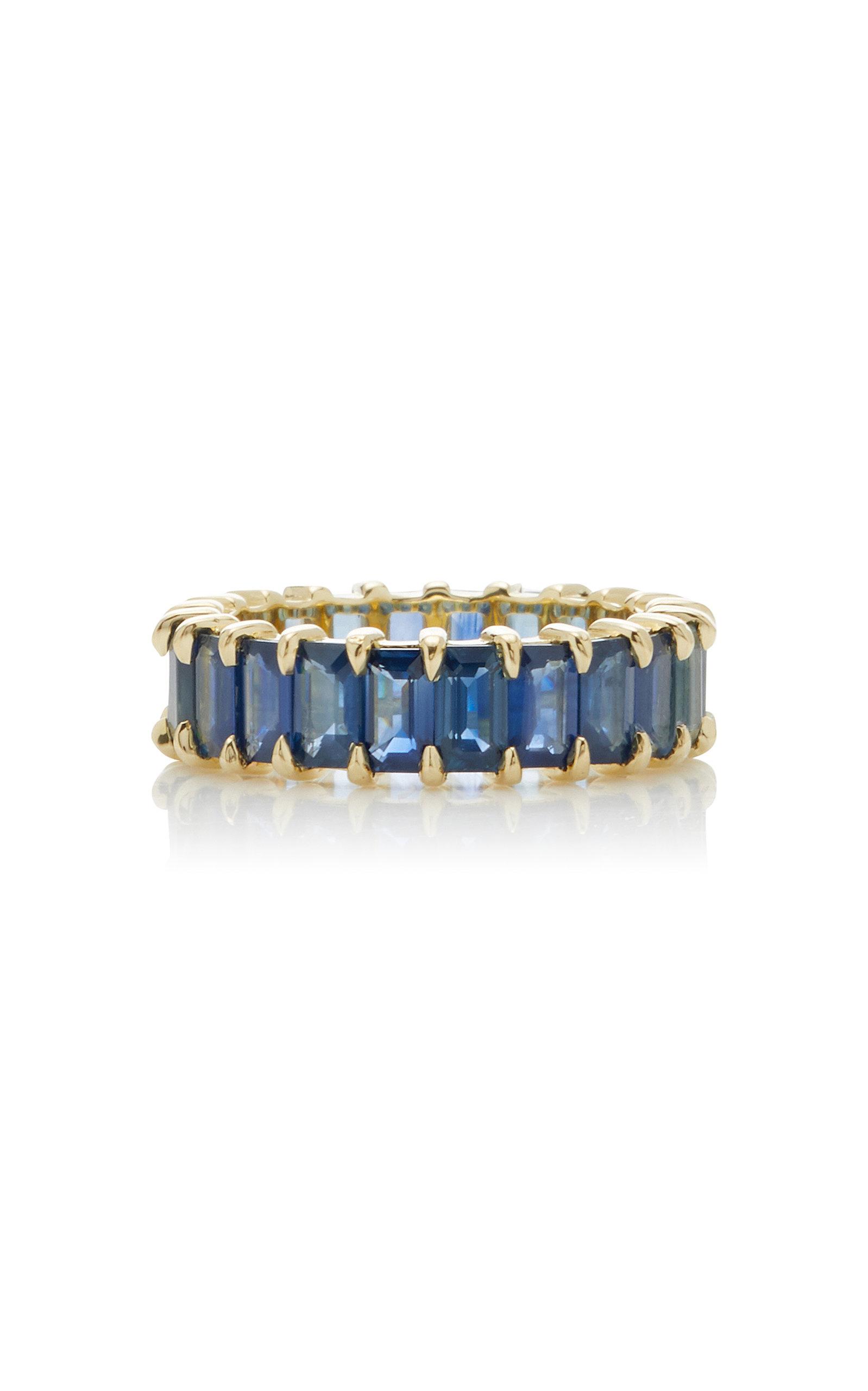 Women's Harper 14K Gold Blue Sapphire Ring
