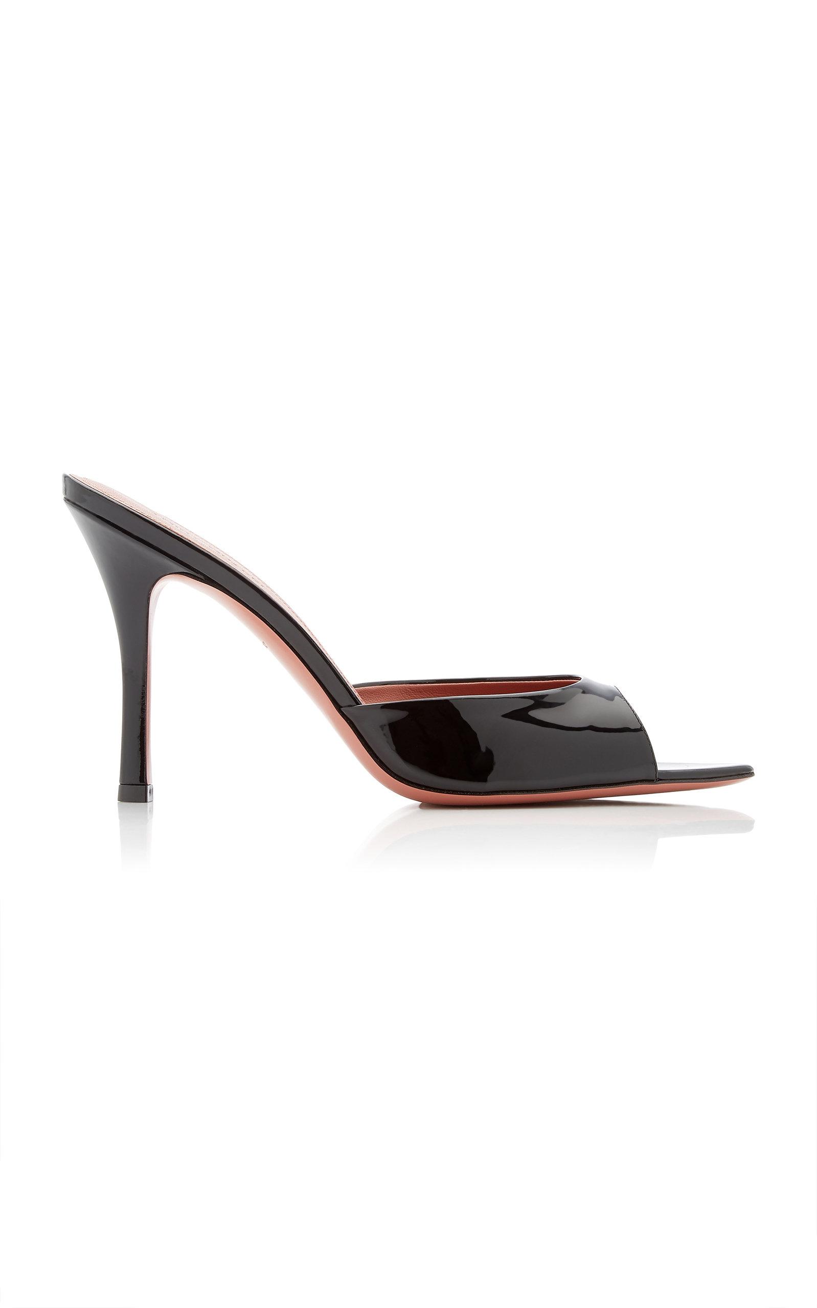 Amina Muaddi – Women's Caroline Patent Leather Sandals – Black – Moda Operandi