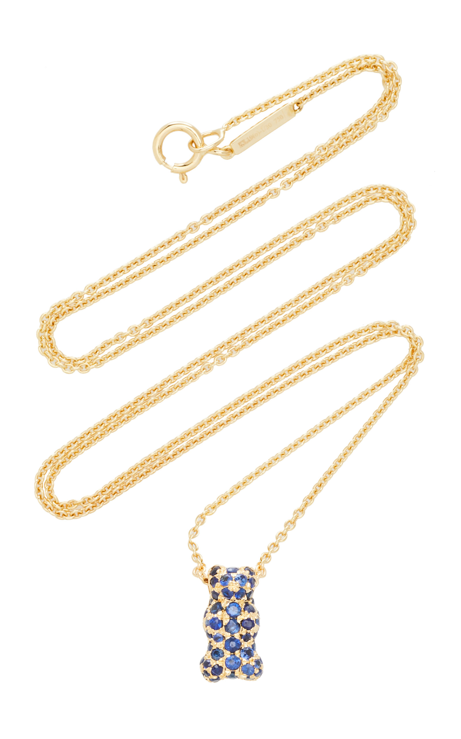 Women's 18K Yellow-Gold and Blue Sapphire Gummy Bear Necklace