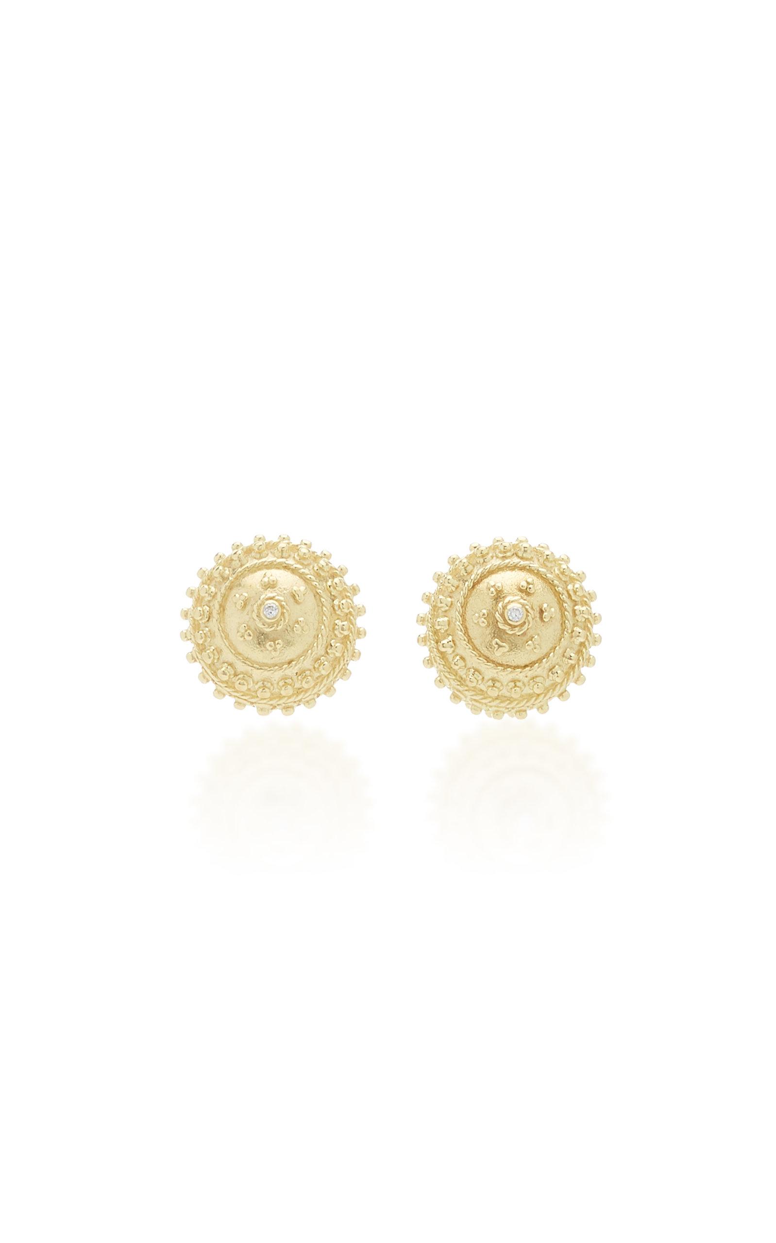 Women's Heritage Orb 18k Yellow-Gold and Diamond Earrings