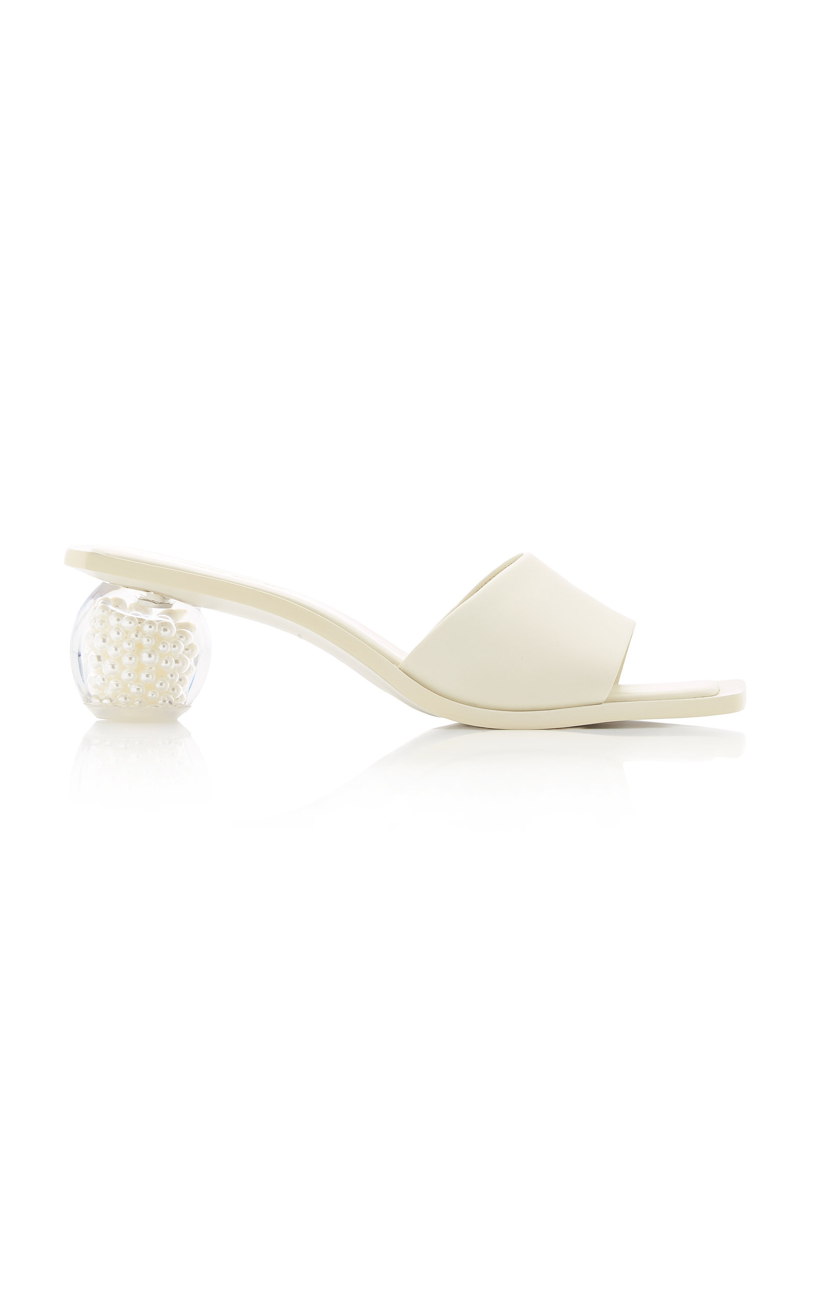 Cult Gaia TAO PEARL LEATHER SANDALS