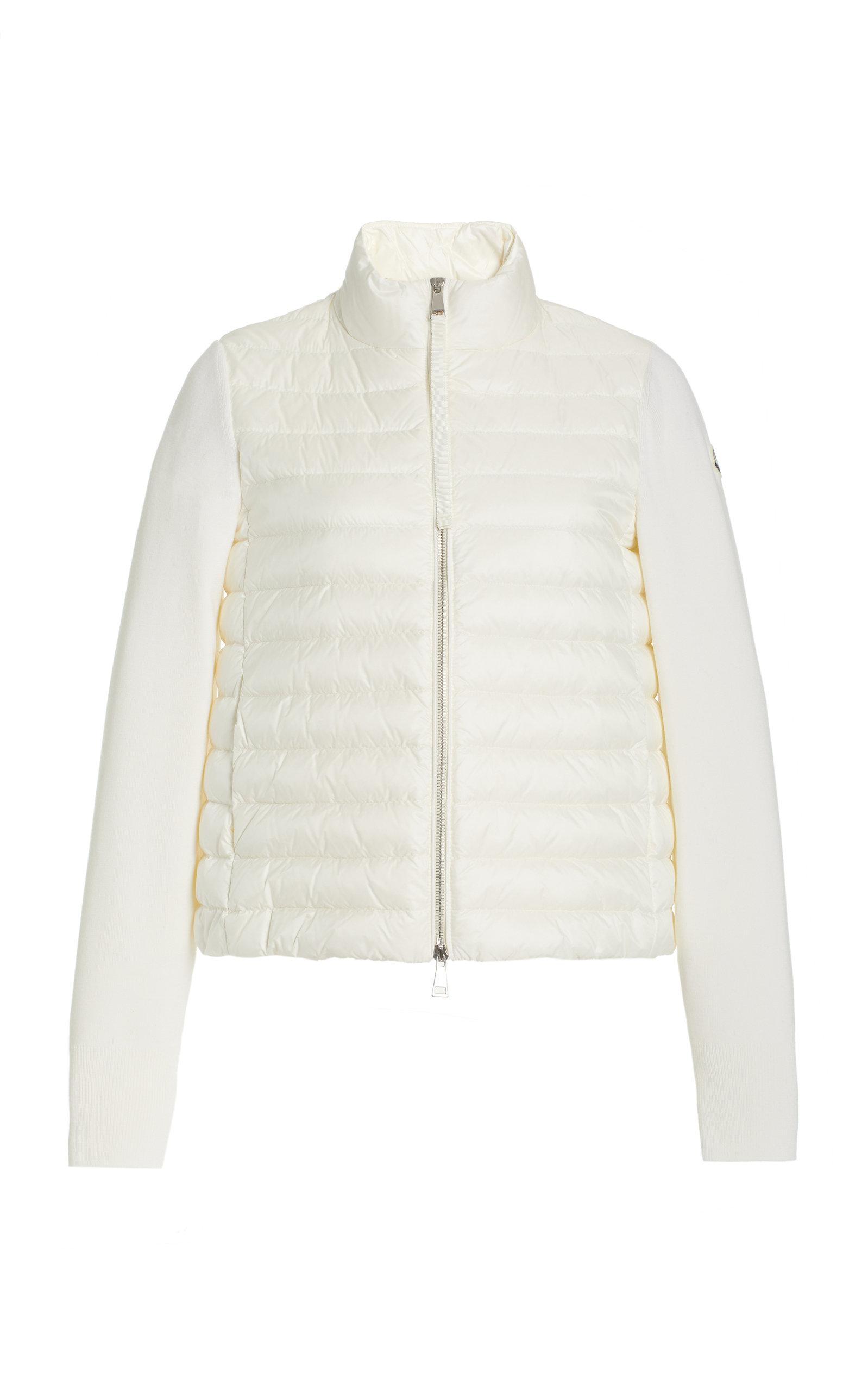 Moncler - Women's Down-Paneled Wool Jacket - White - Moda Operandi