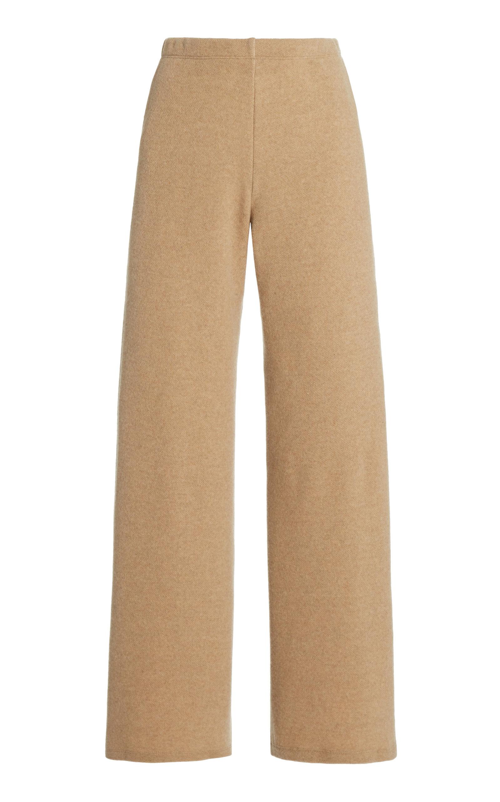 LESET SIERRA WOOL-BLEND WIDE-LEG PANTS