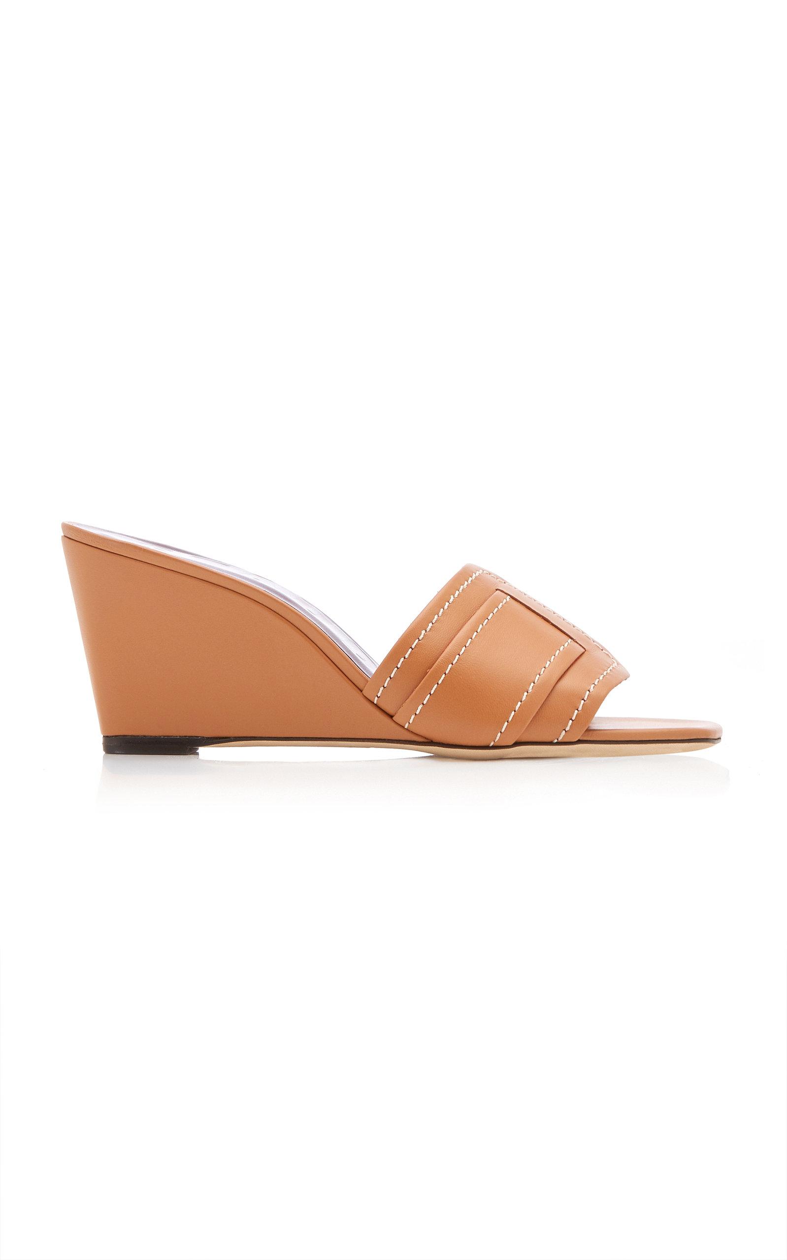 Women's Sylvie Leather Wedge Sandals