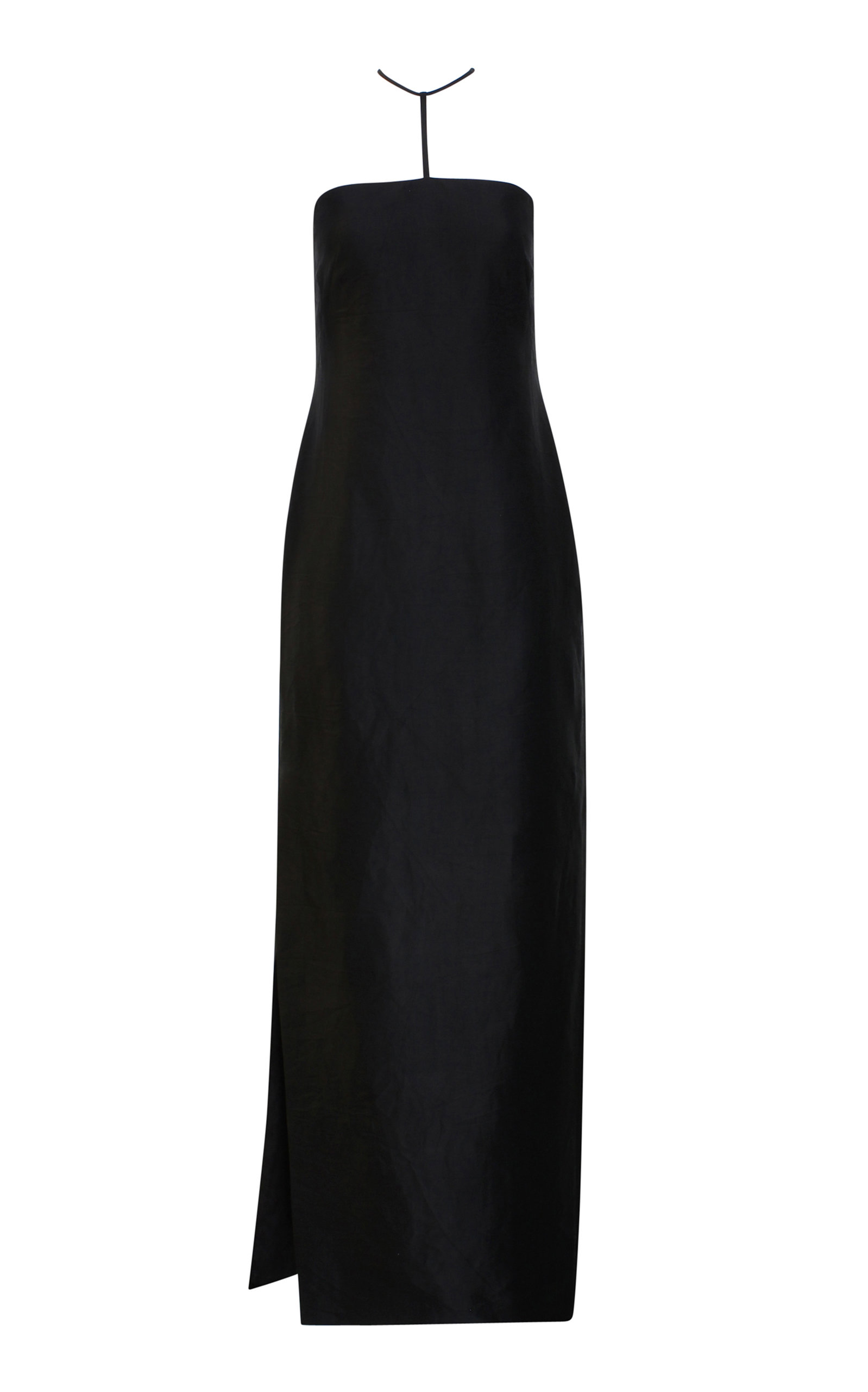 Rejina Pyo LOU HALTER-NECK TWILL MAXI DRESS