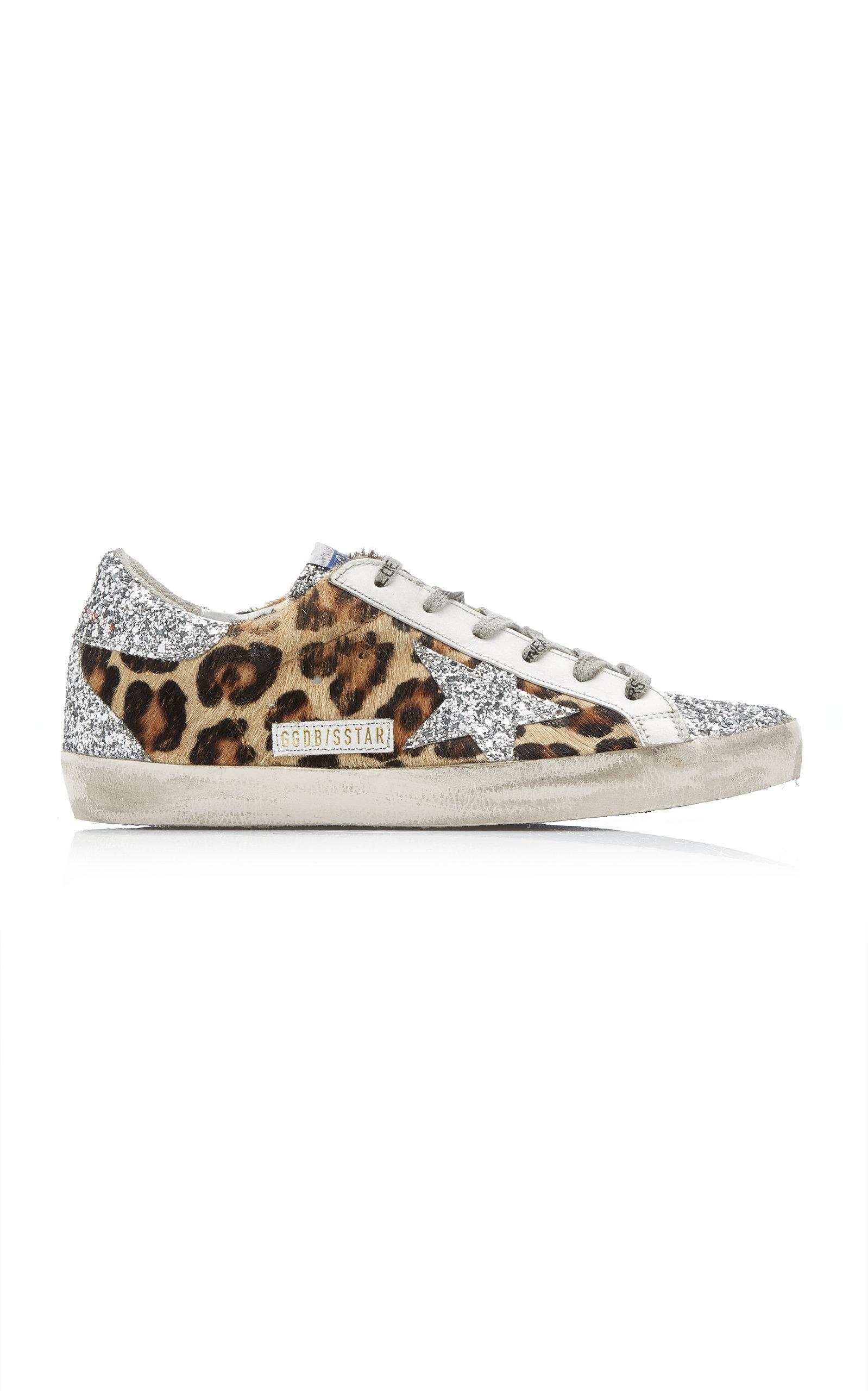 Golden Goose - Women's Superstar Glitter Leopard Sneakers  - Animal - Moda Operandi
