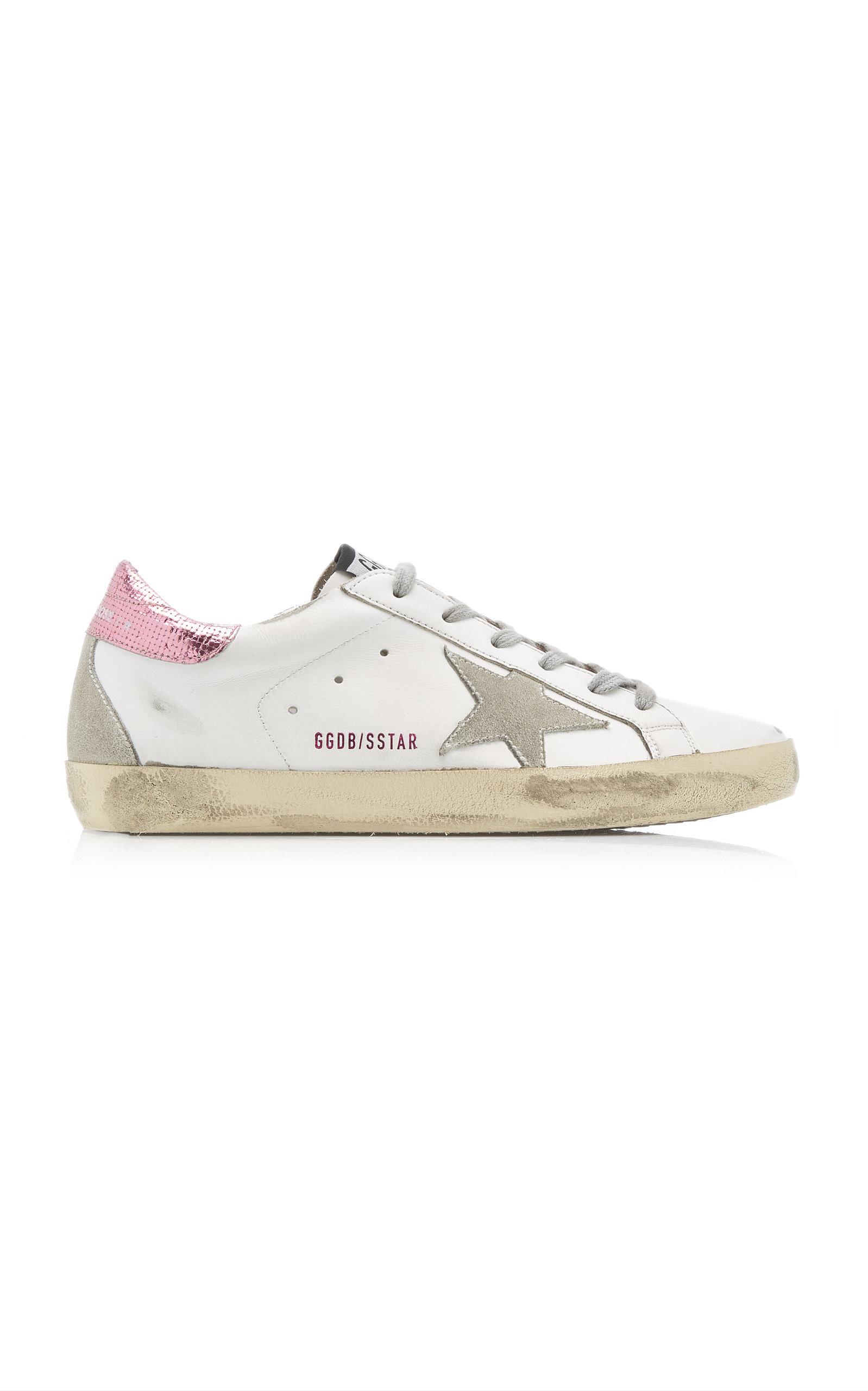 Golden Goose - Women's Superstar Low-Top Leather Sneakers  - White - Moda Operandi