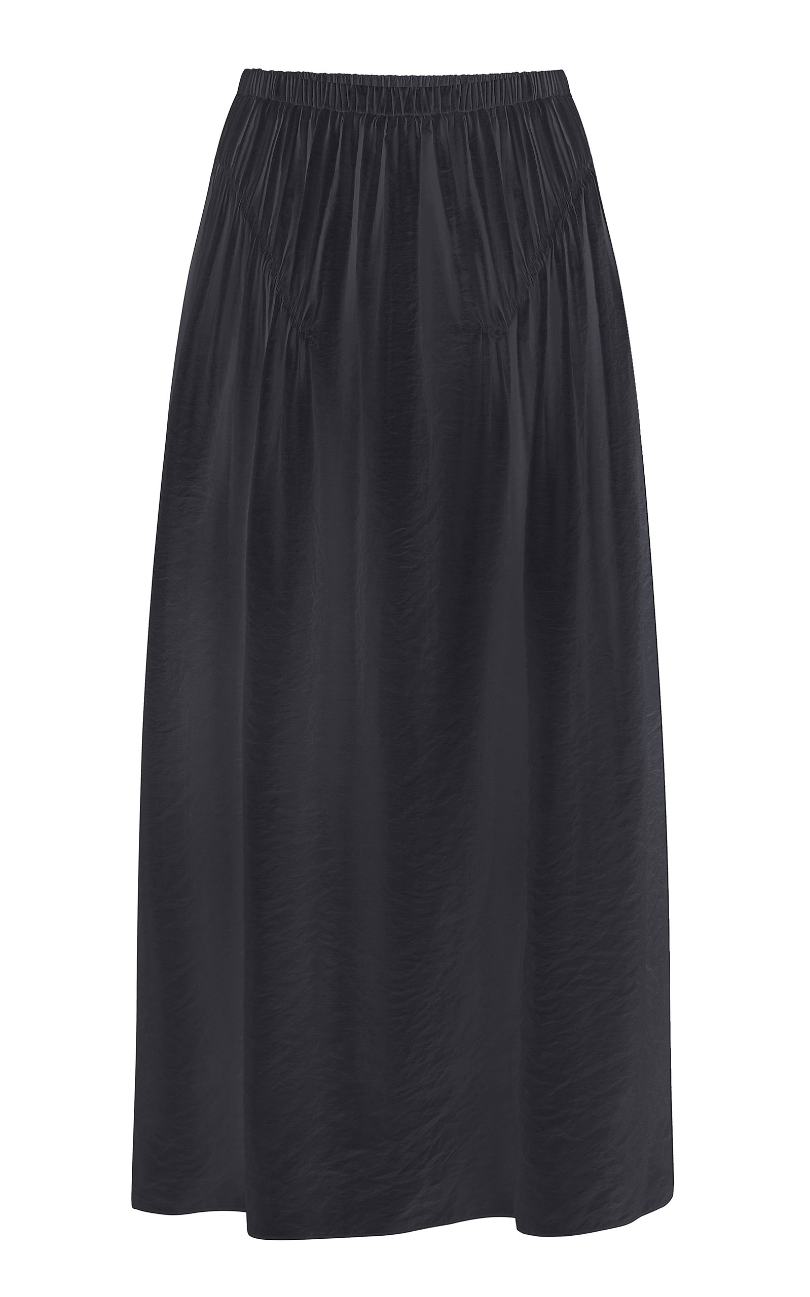 Anna October LIZ SMOCKED CREPE MIDI SKIRT