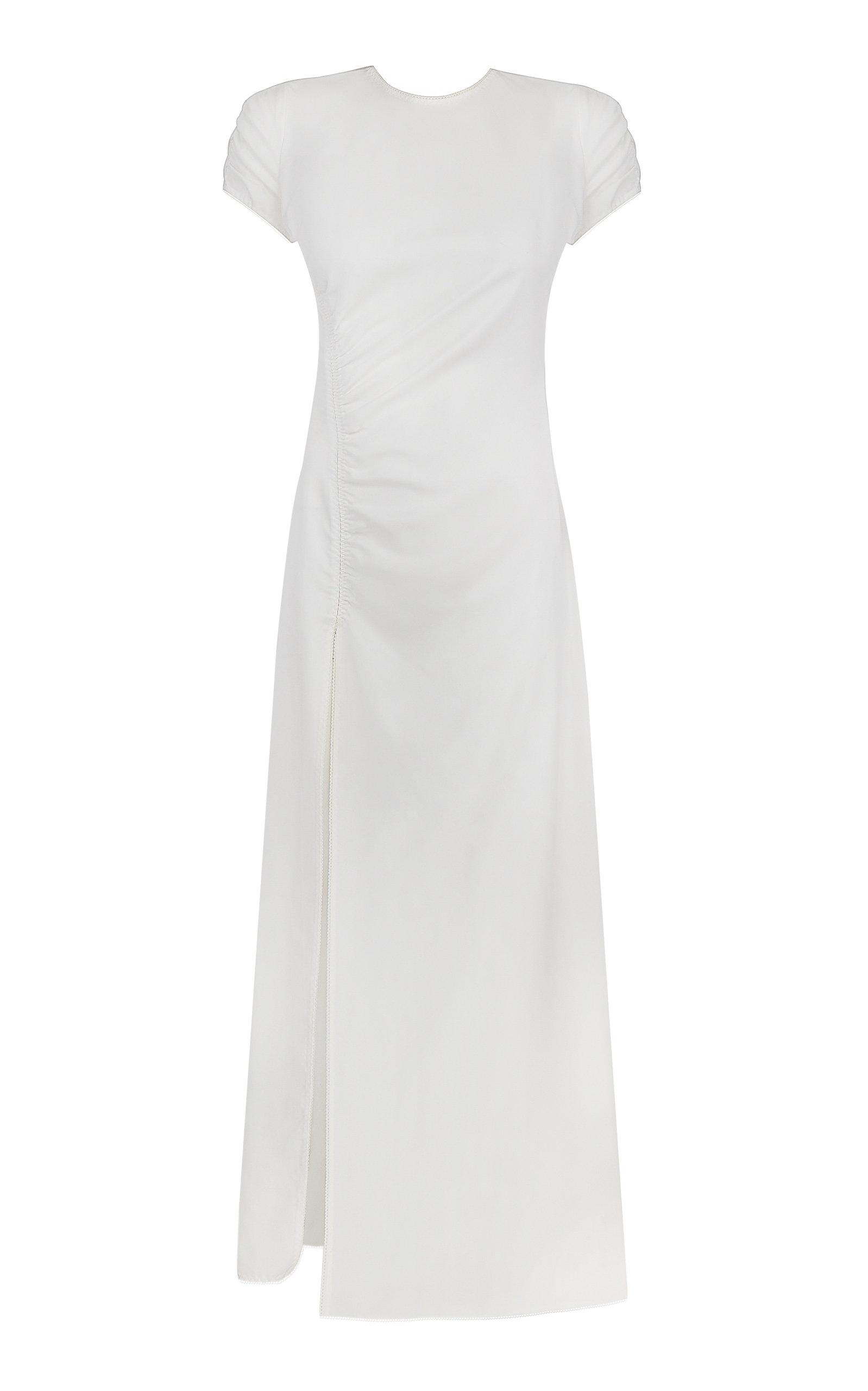 Women's Magnolia Ruched Crepe Maxi Dress