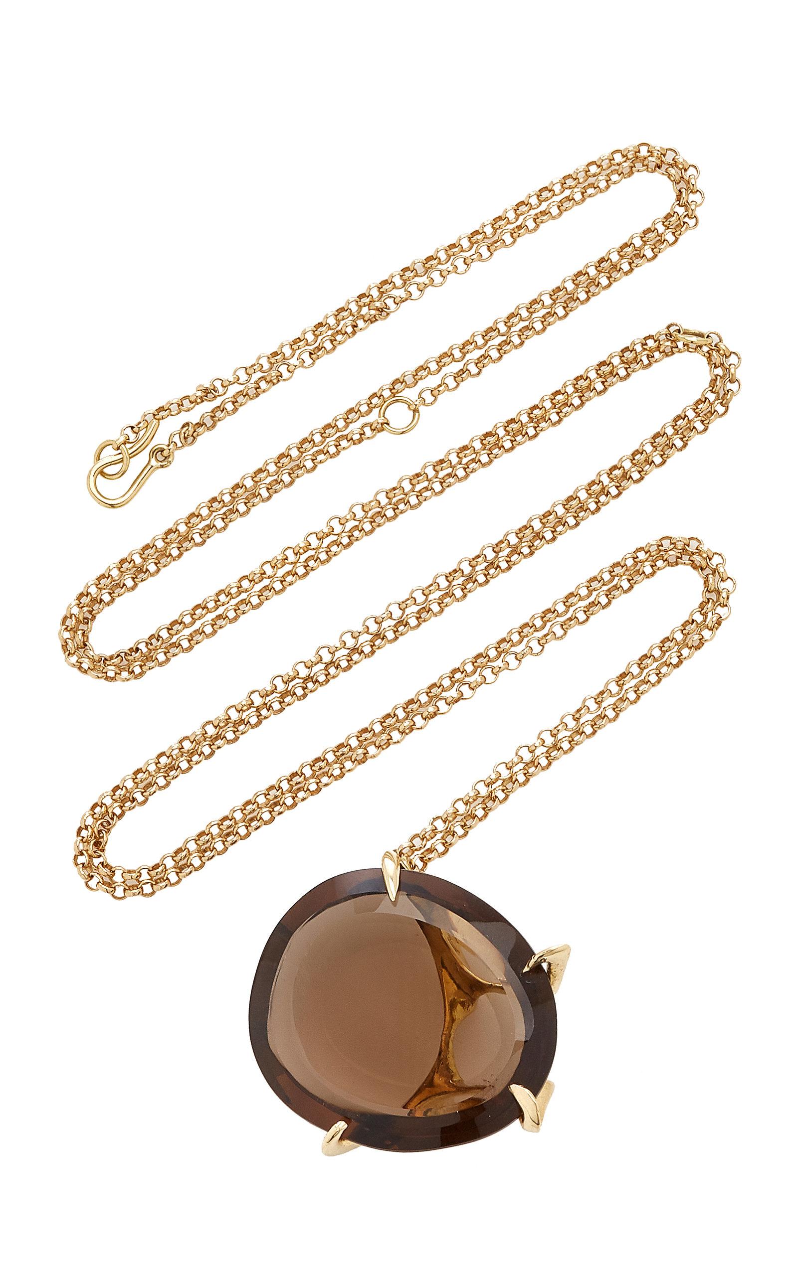 Women's Envolto Quartz 18K Gold Necklace