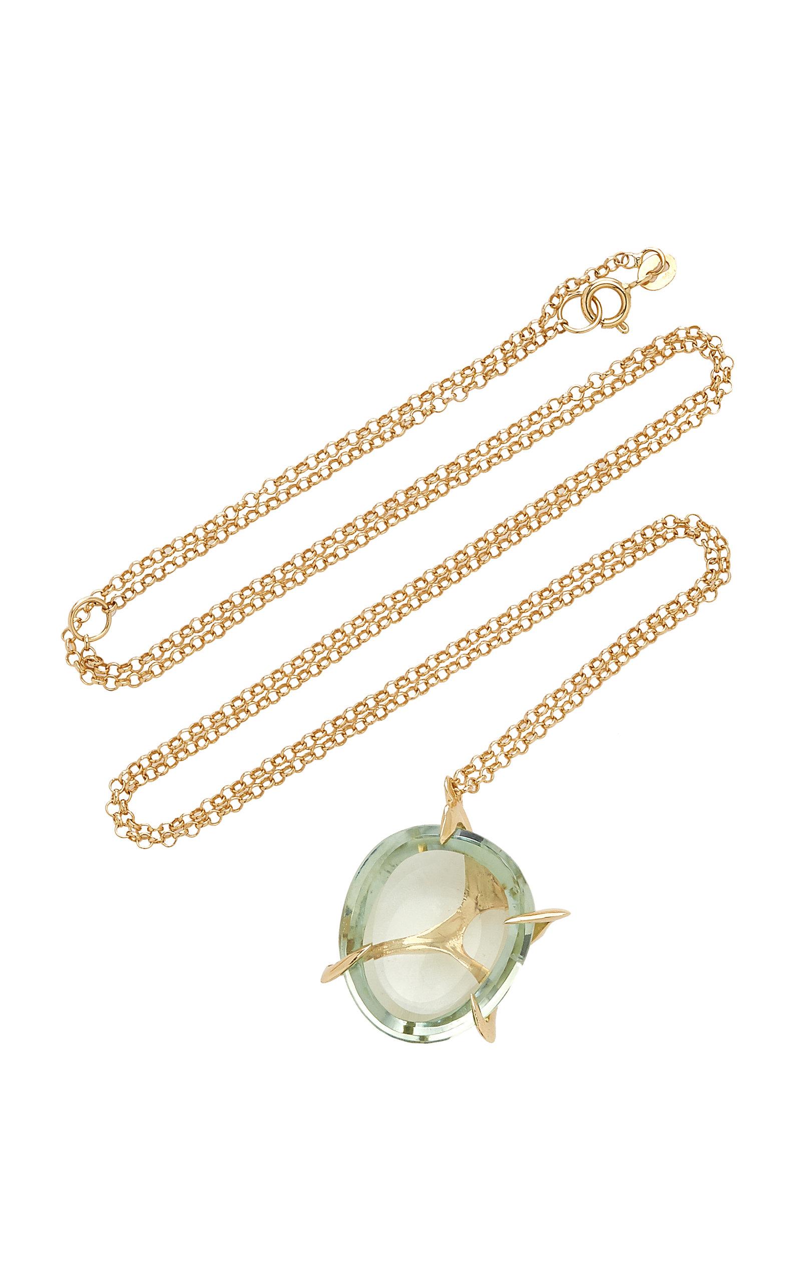 Women's Small Envolto Quartz 18K Gold Necklace