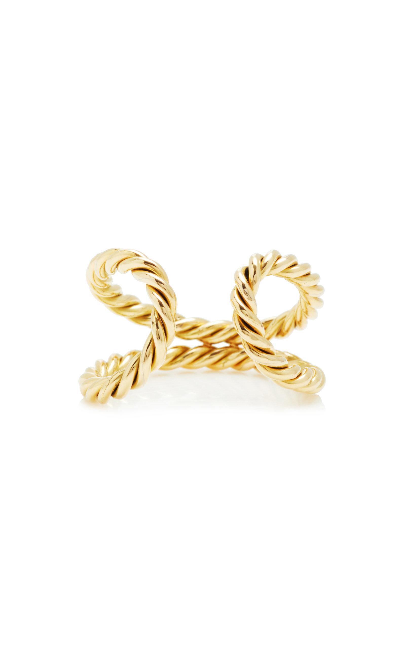 Women's 18K Yellow Gold Rope Ring