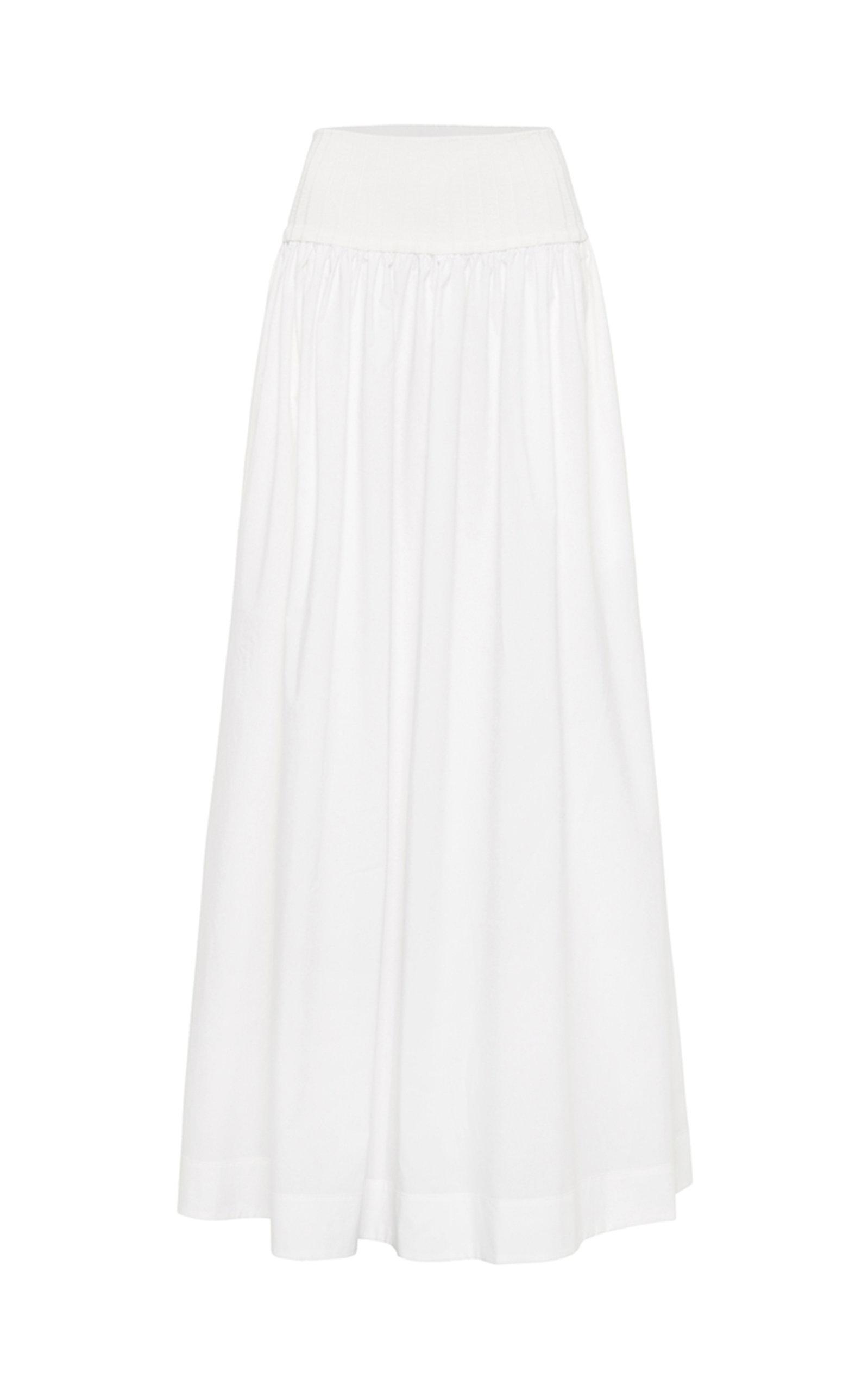 Women's Ribbed Cotton Maxi Skirt