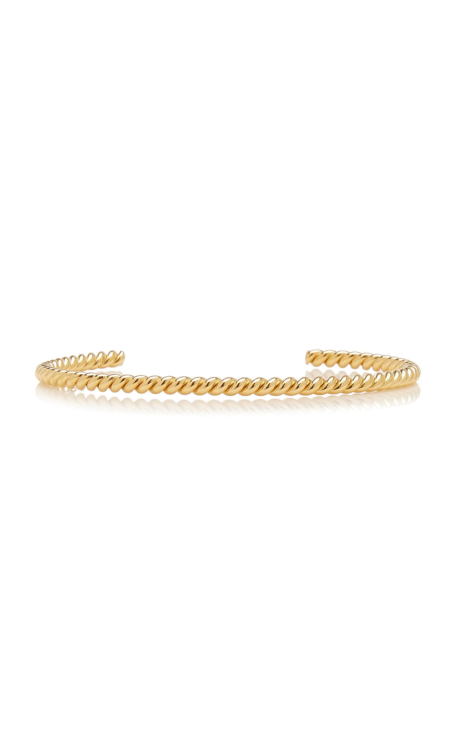 Isabel Lennse - Women's Twisted Gold-Plated Cuff - Gold - Moda Operandi