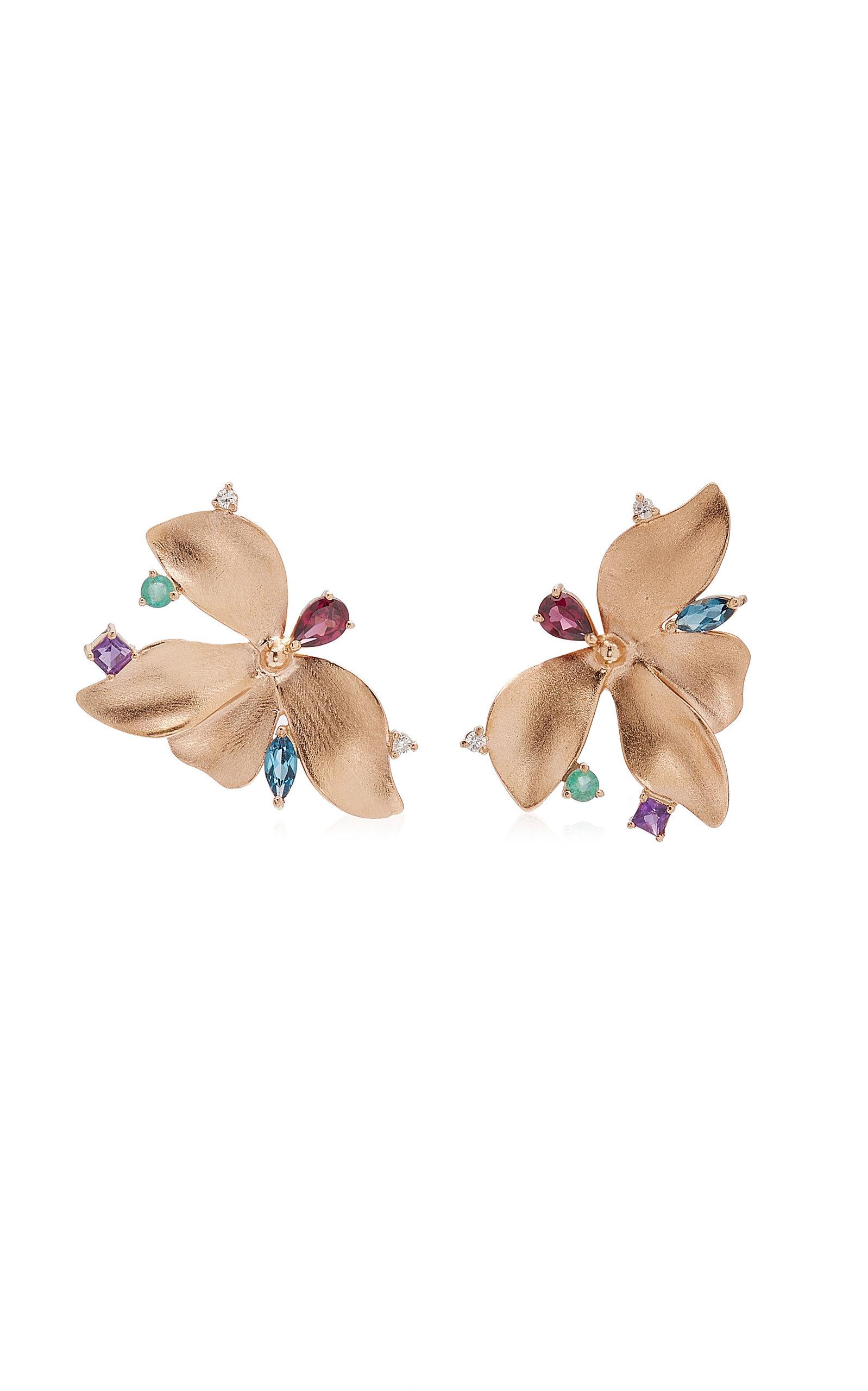Women's Almare 18K Gold Multi-Stone Earrings