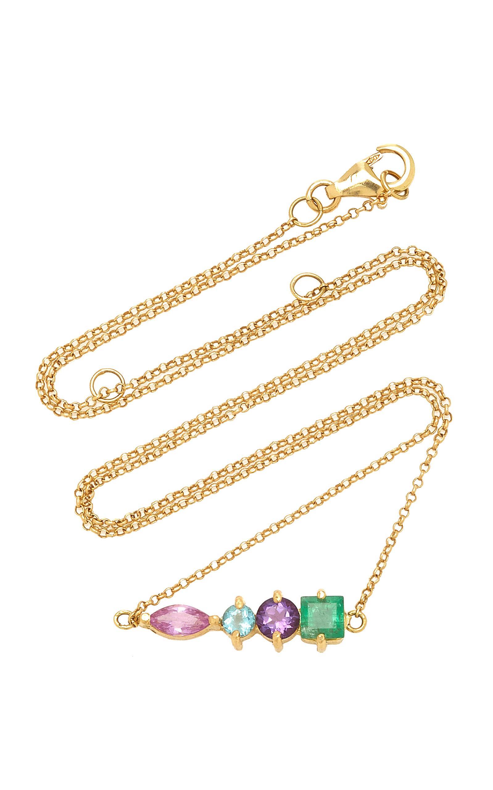 Women's 18K Yellow Gold Multi-Stone Necklace