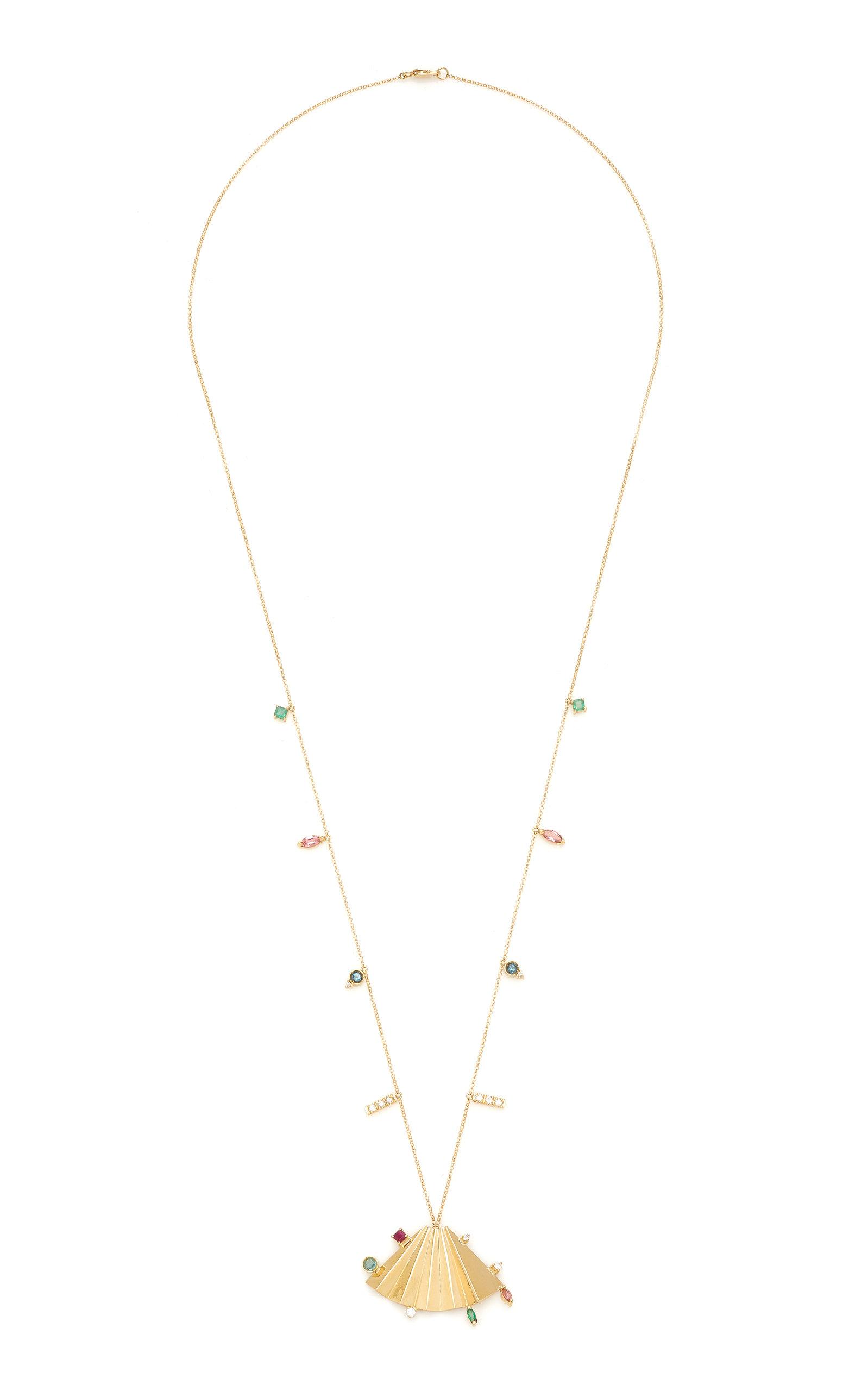 Women's Plissé 18K Yellow Gold Multi-Stone Necklace