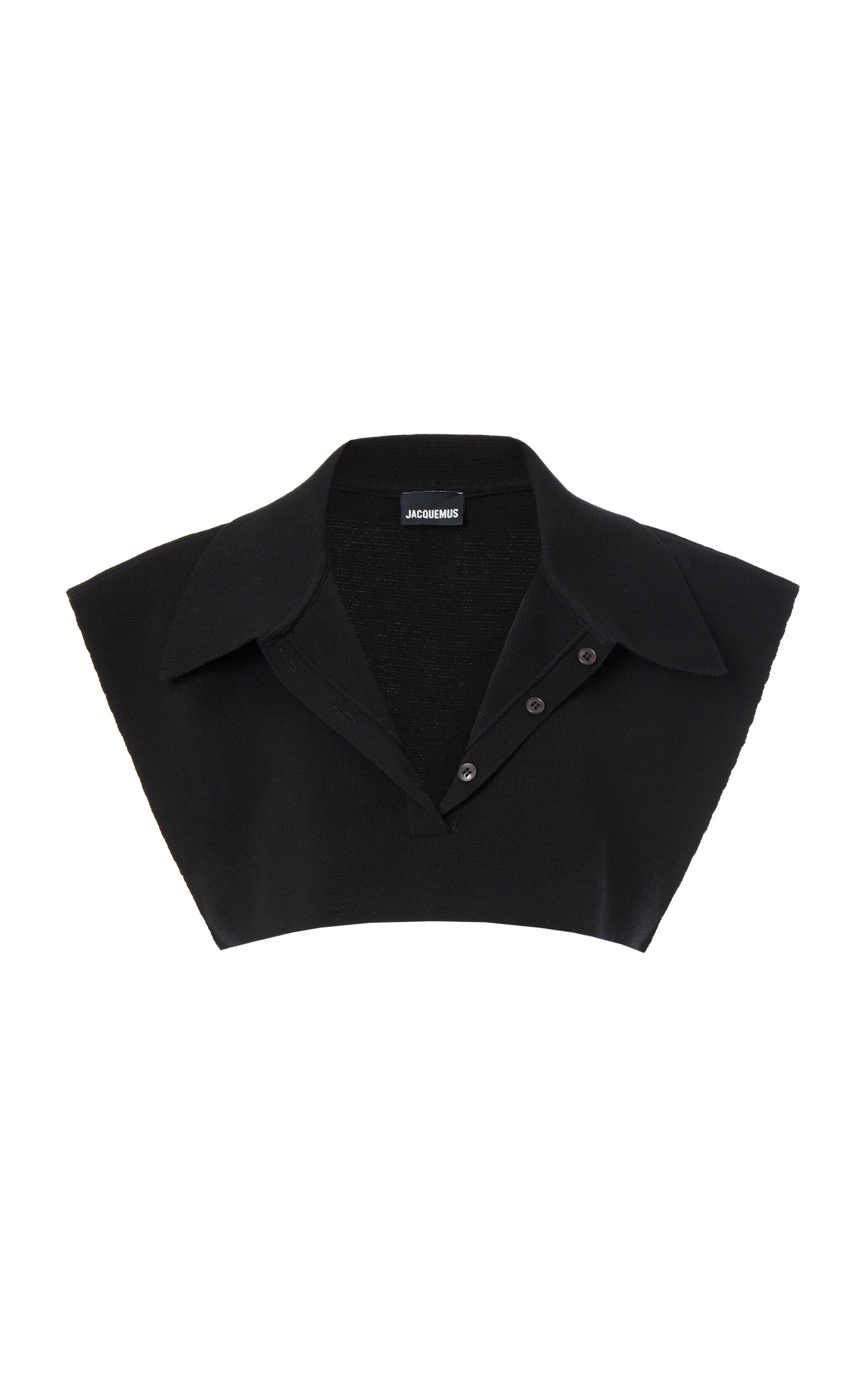 Jacquemus SANTON COTTON-BLEND CROPPED POLO SHIRT