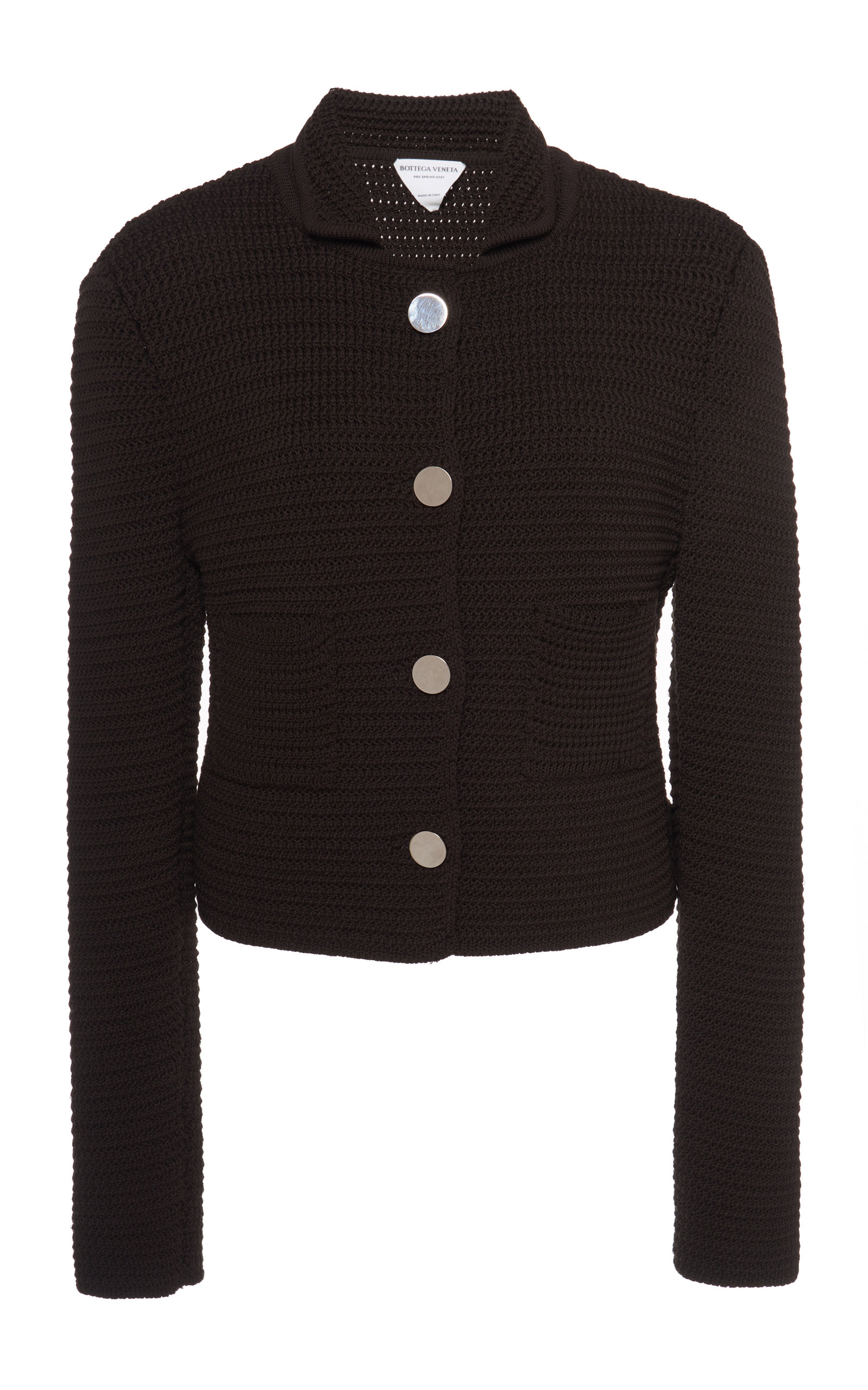 Bottega Veneta – Women's Cotton-Blend Knit Cardigan Jacket – Brown – Moda Operandi