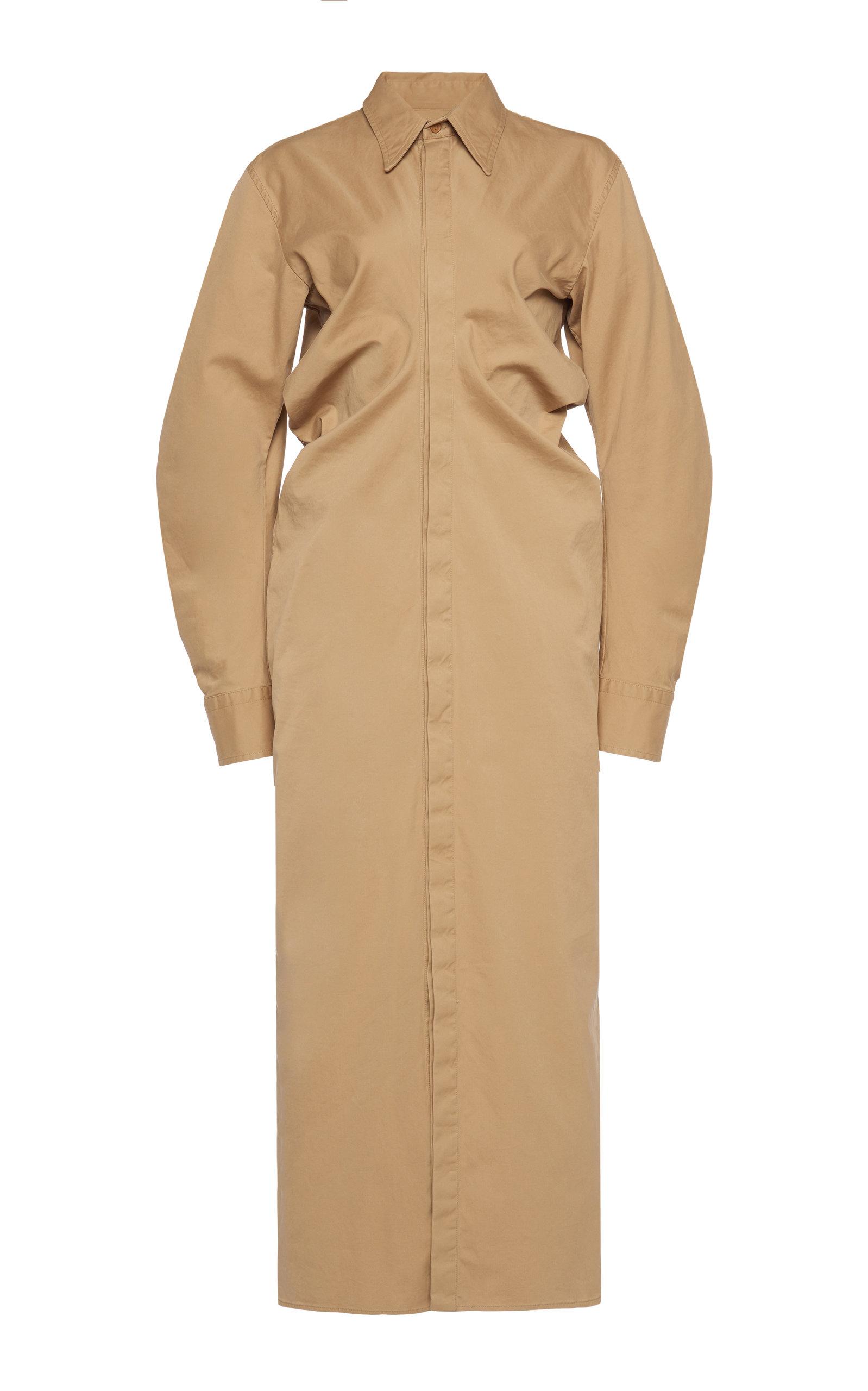 Bottega Veneta – Women's Button-Down Cotton Midi Dress – Neutral – Moda Operandi