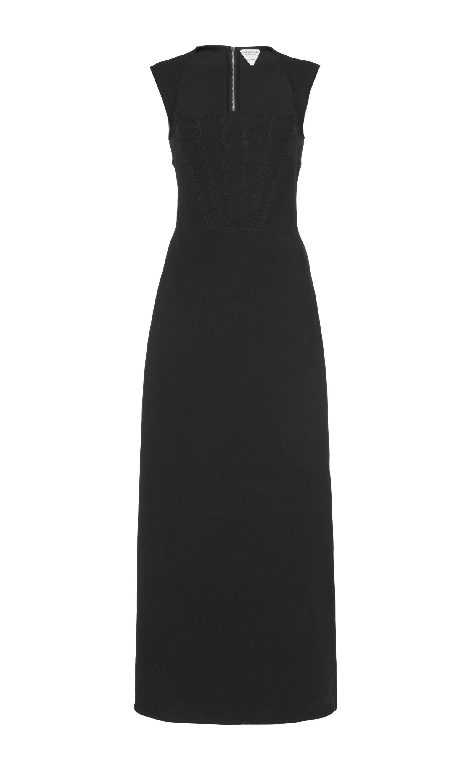 Bottega Veneta – Women's Cady Midi Dress – Black – Moda Operandi
