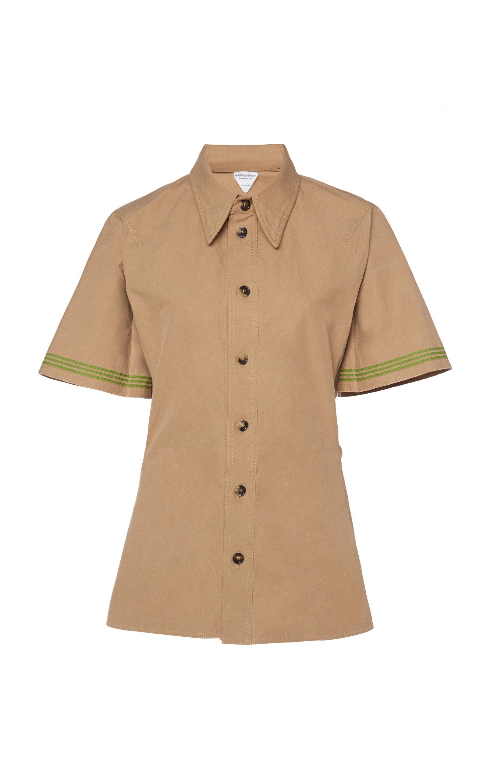 Bottega Veneta – Women's Heavy Cotton Button-Down Shirt – Neutral – Moda Operandi