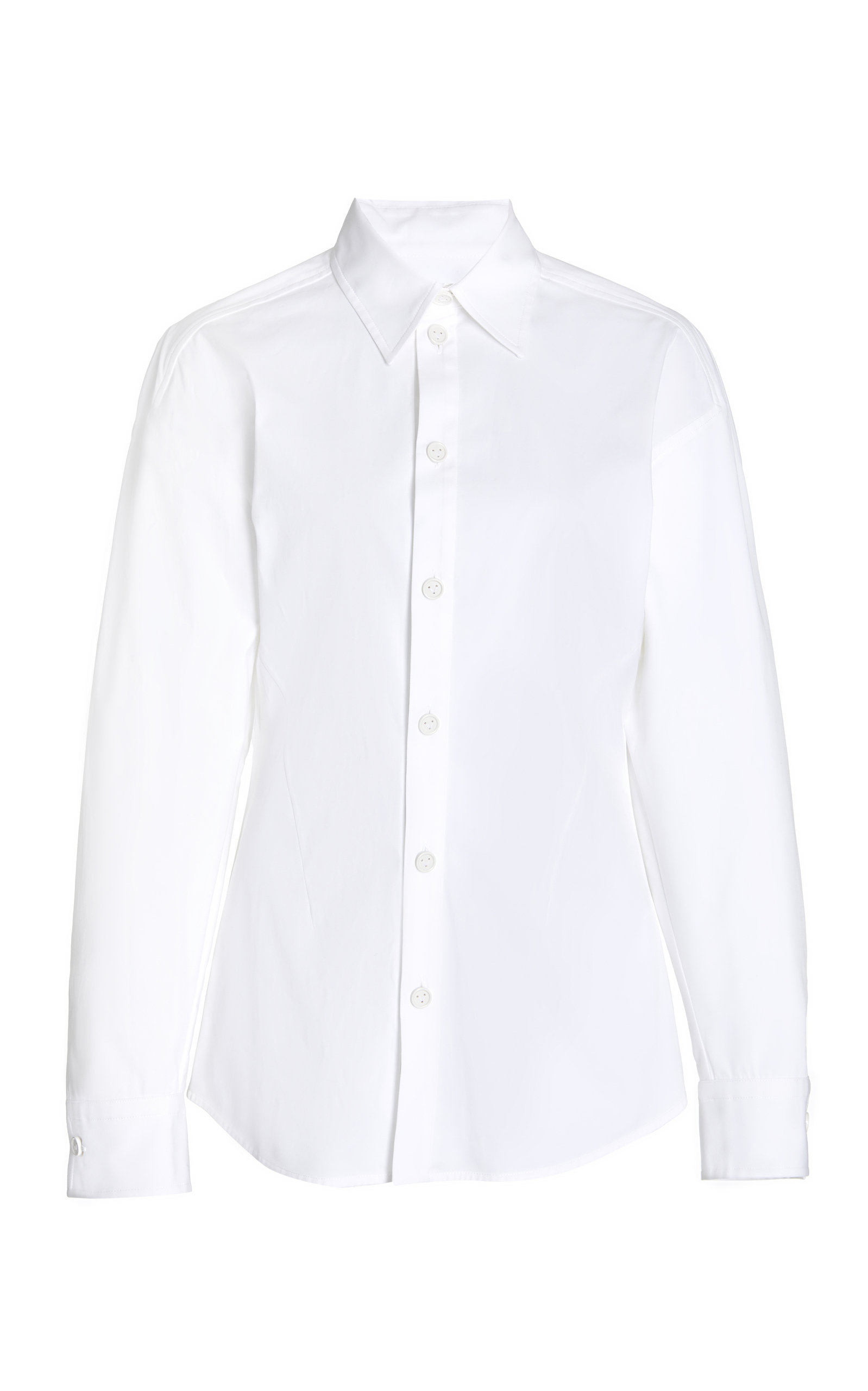 Bottega Veneta Women's Stretch Poplin Button-down Shirt In White