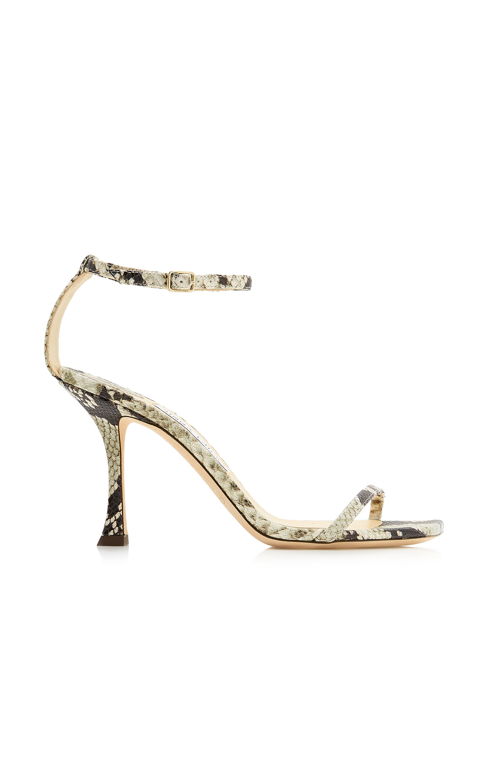 Jimmy Choo MARIN SNAKE-EFFECT LEATHER SANDALS