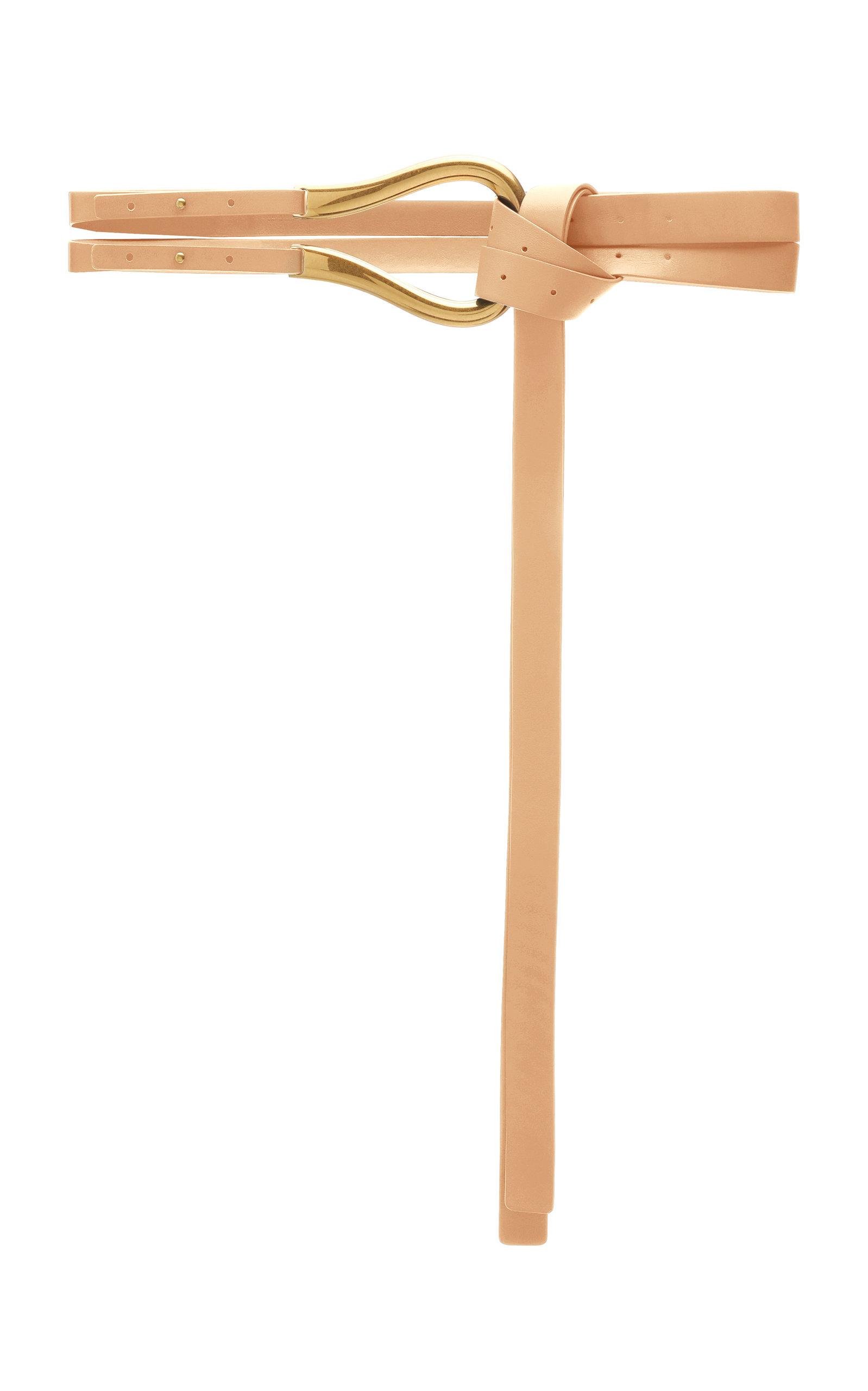 Bottega Veneta – Women's Horseshoe Leather Waist Belt – Neutral – Moda Operandi