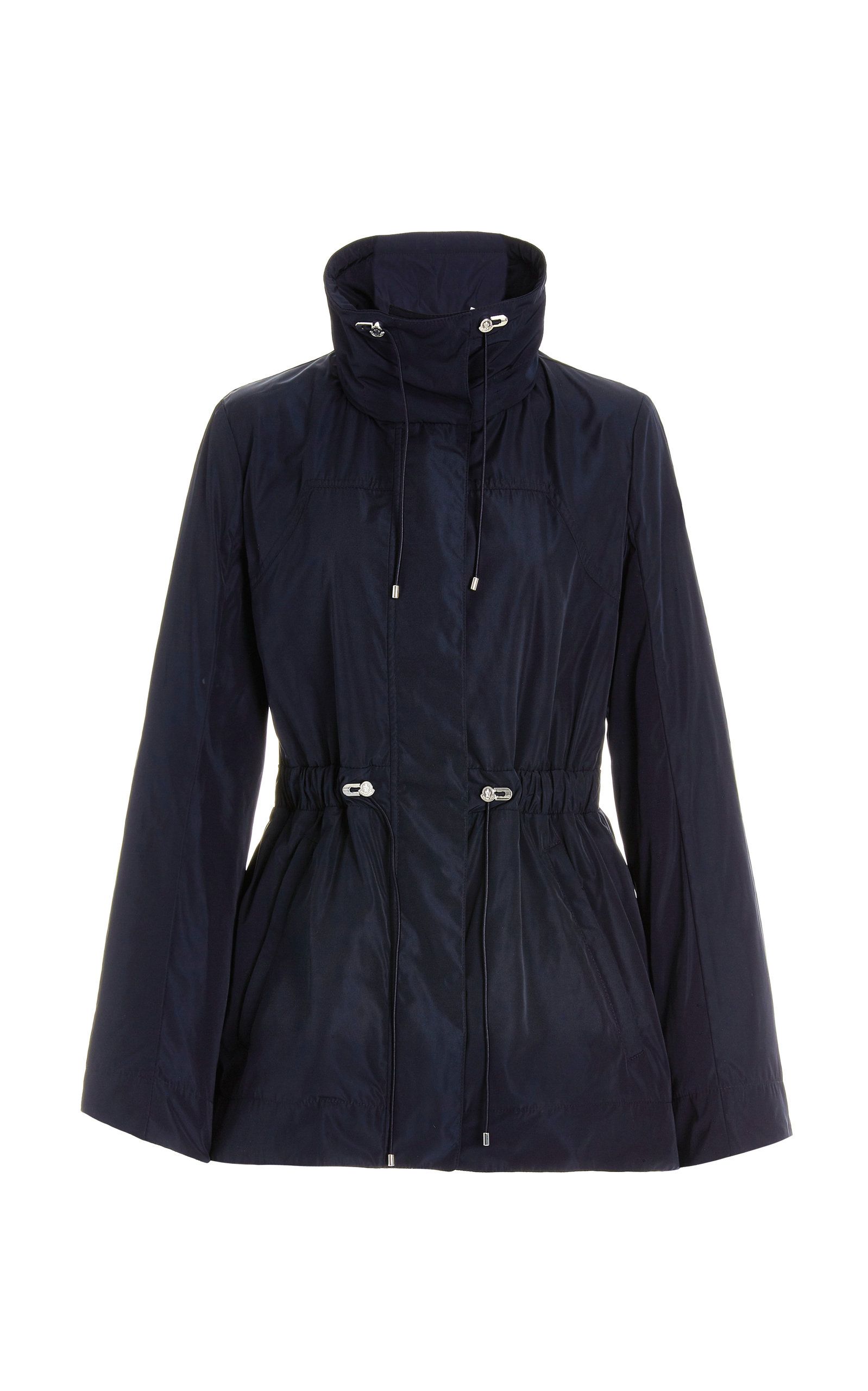 Moncler - Women's Ocre Drawstring-Detailed Shell Jacket - Navy - Moda Operandi