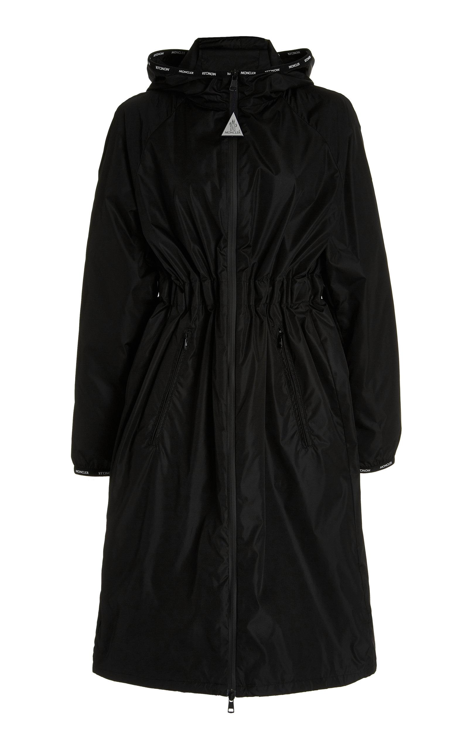 Moncler - Women's Rasaben Long Drawstring-Detailed Shell Jacket - Black - Moda Operandi