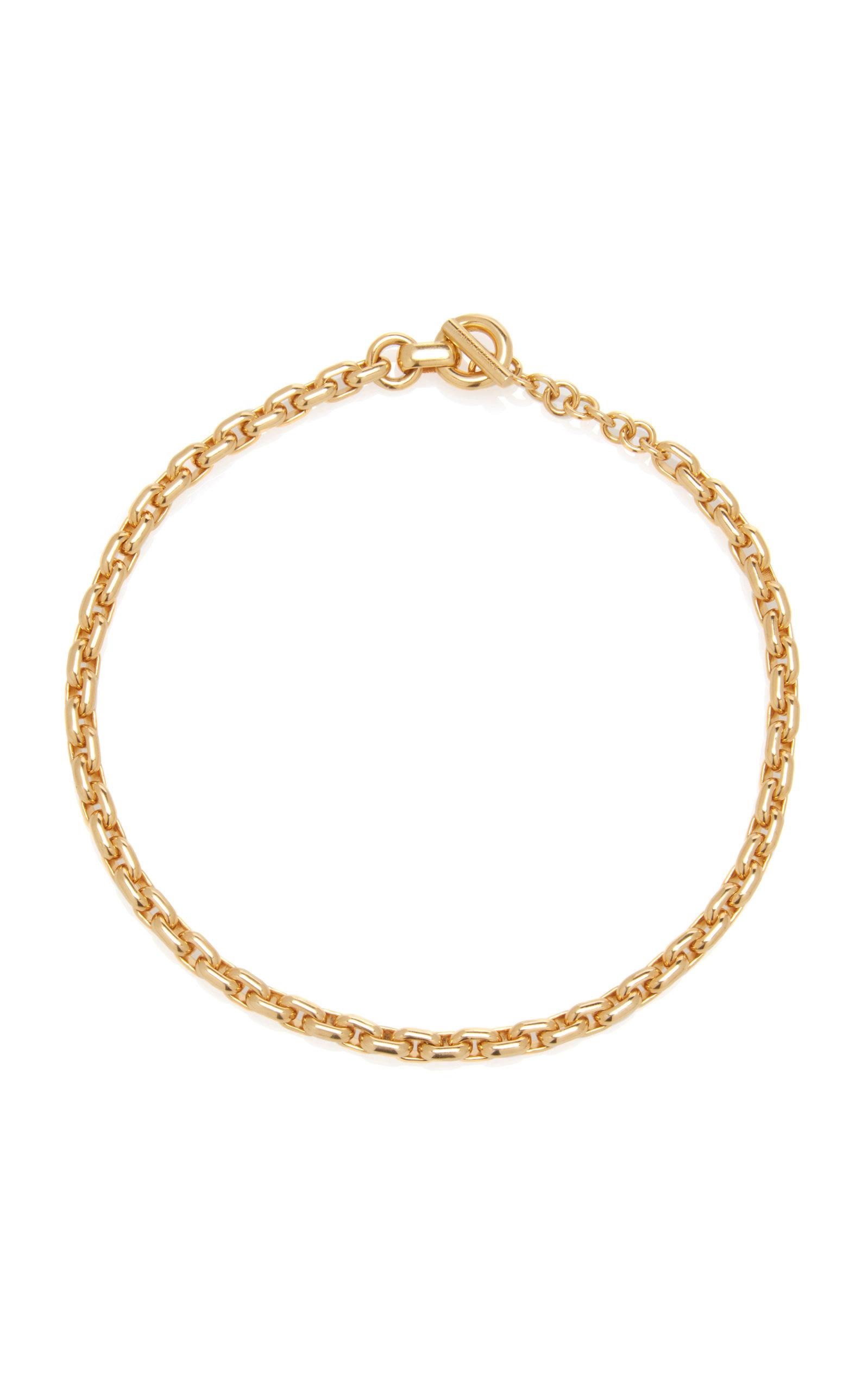 Bottega Veneta – Women's Chain Gold-Plated Collar Necklace – Gold – Moda Operandi