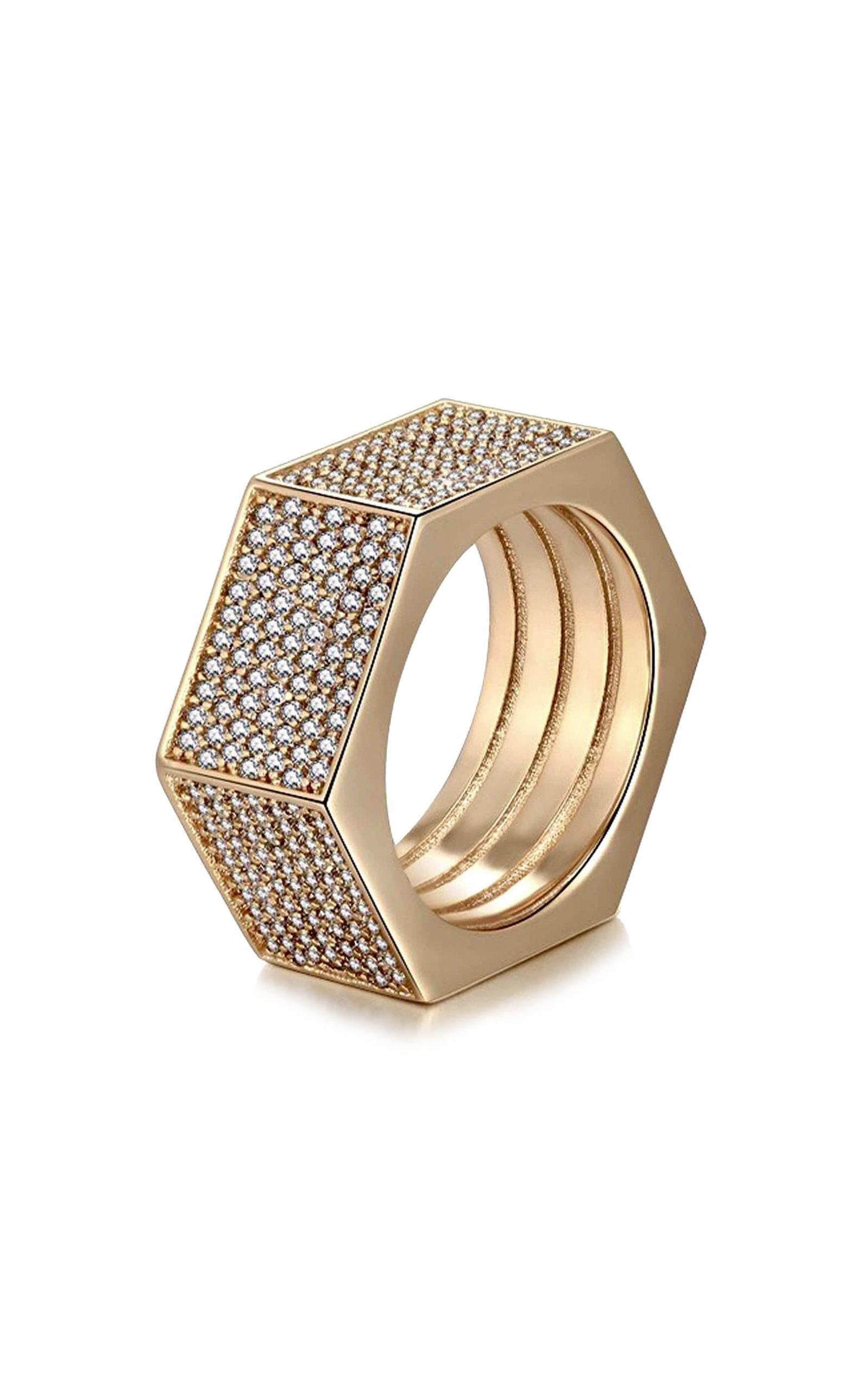 Women's Aster Swarovski-Embellished Bolt Ring
