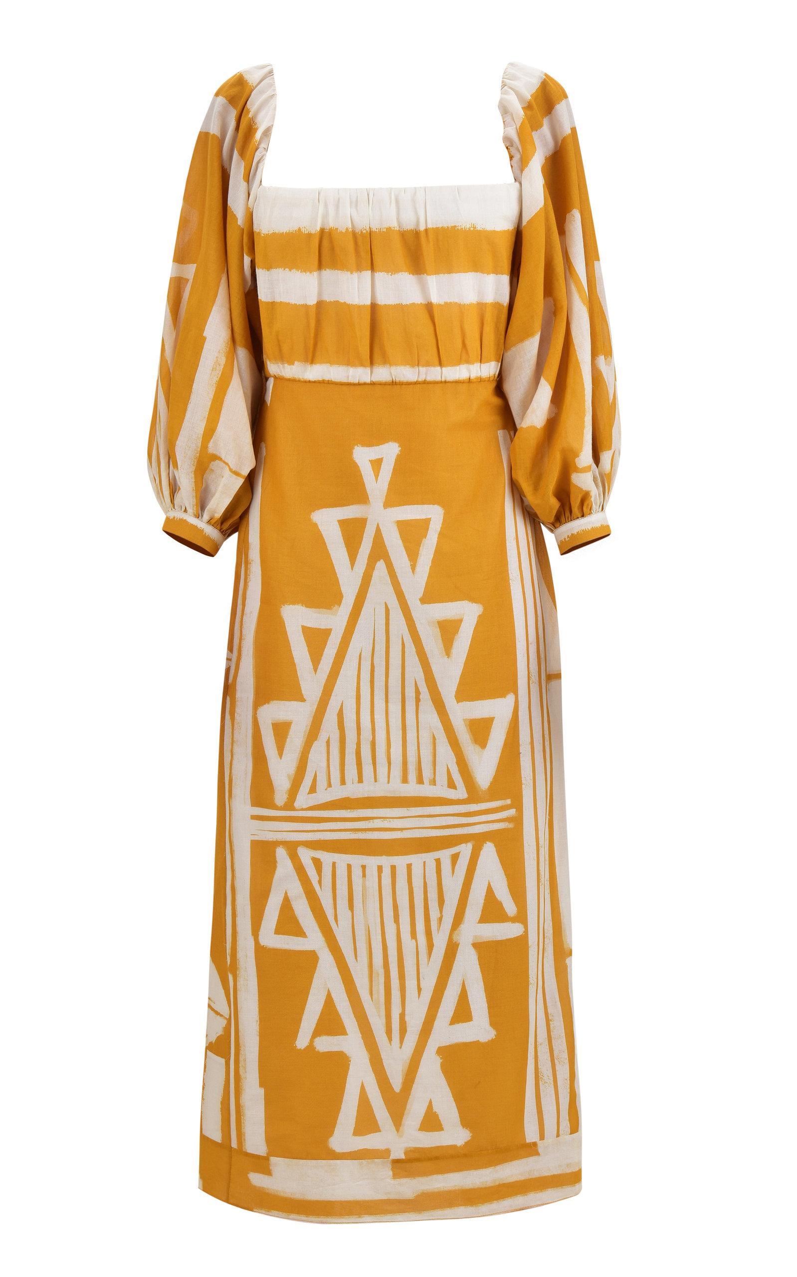 Johanna Ortiz Culture Charm Printed Cotton Midi Dress