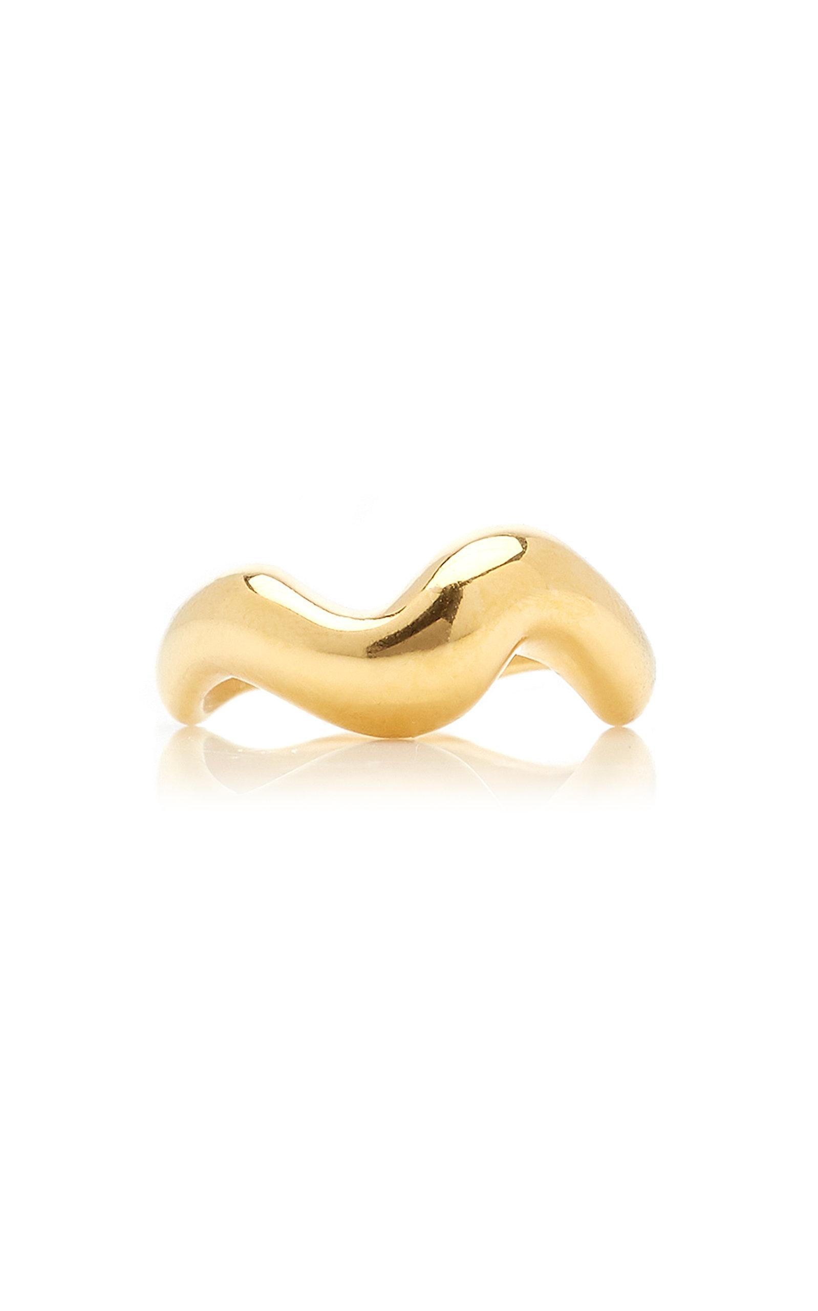 Women's Aurea Polished 18k Gold Vermeil Ring