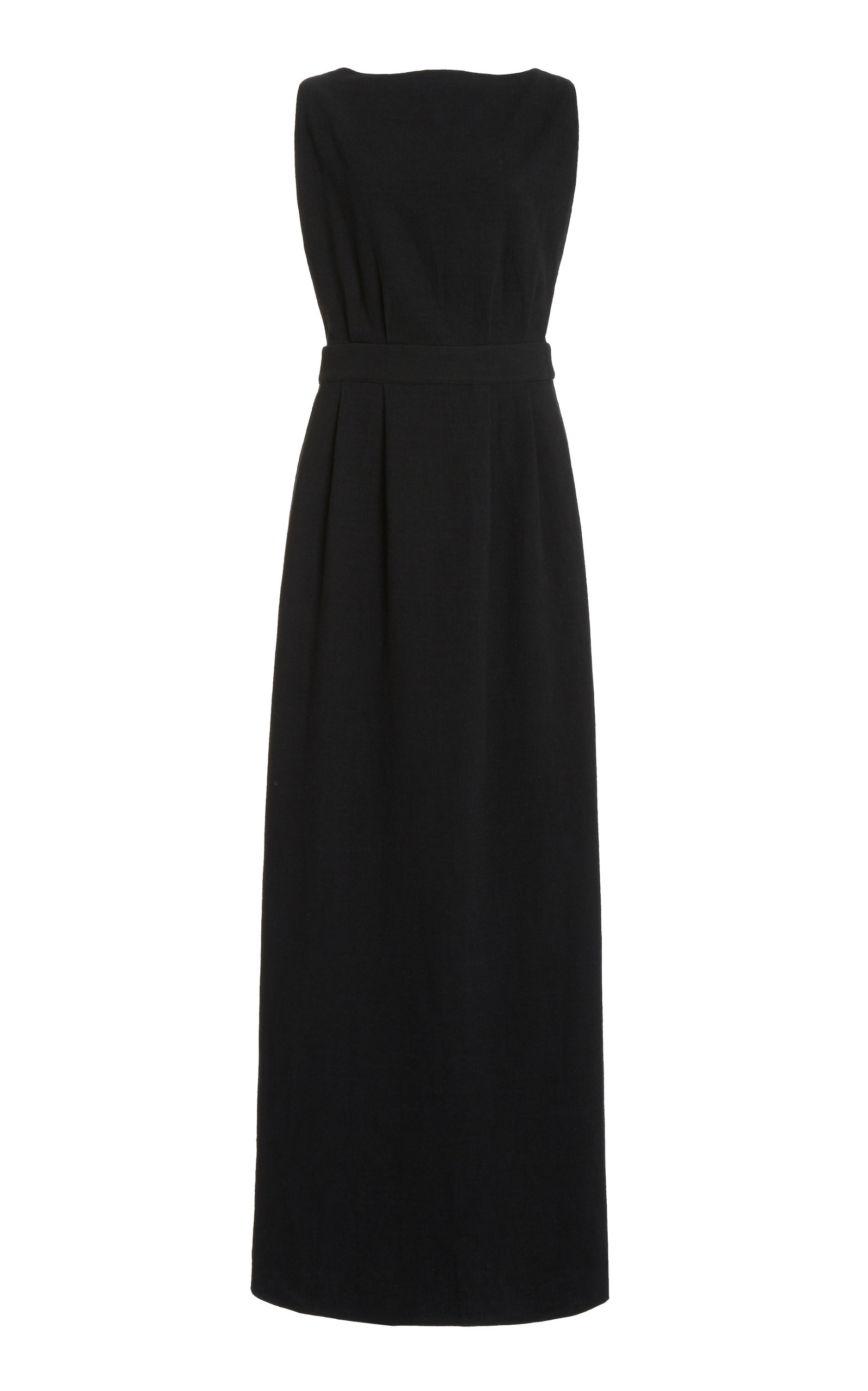 Women's Open-Back Cotton Maxi Dress