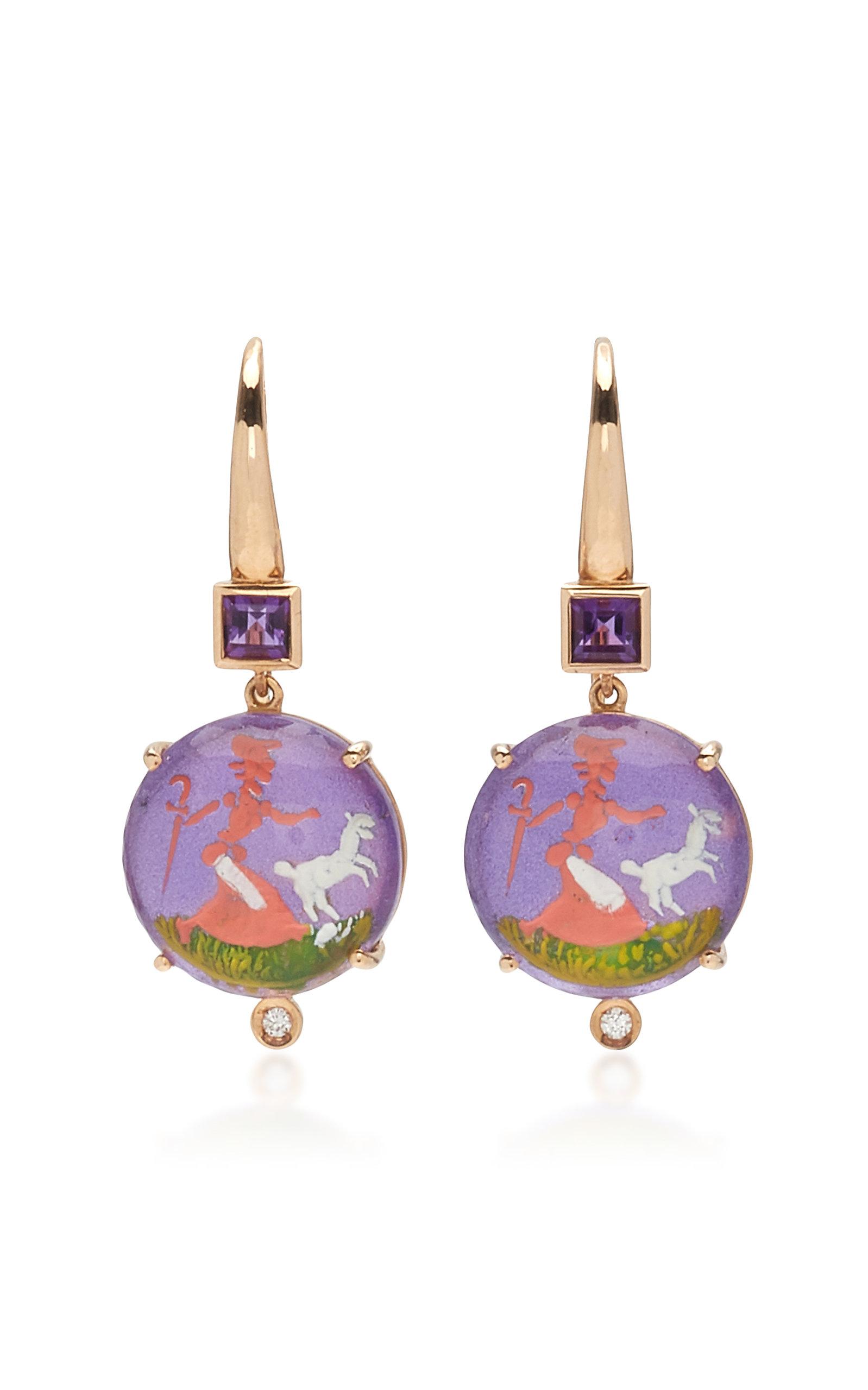 Women's Being 18K Rose Gold Crystal Earrings