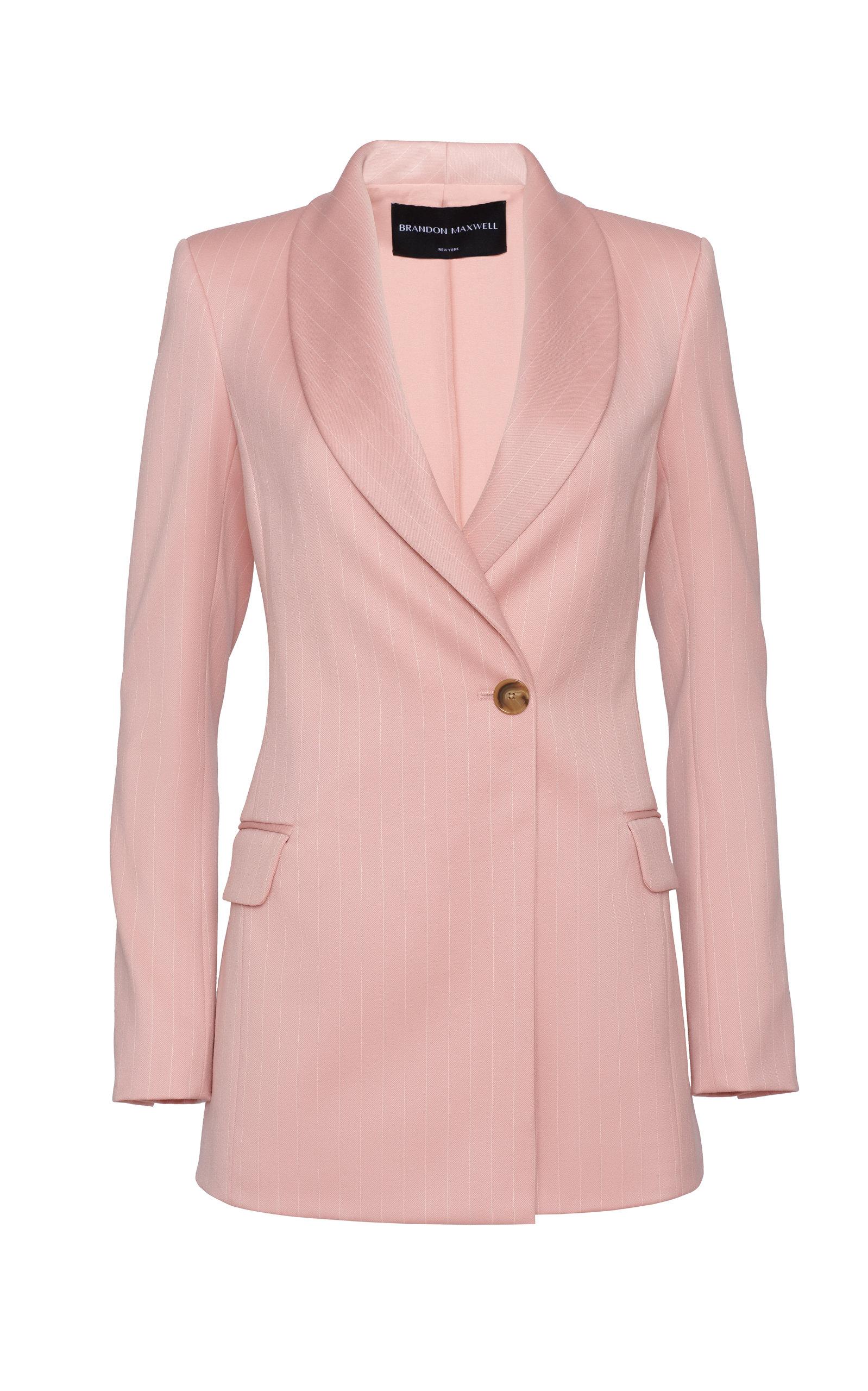 Women's Pinstripe Wool-Blend Blazer