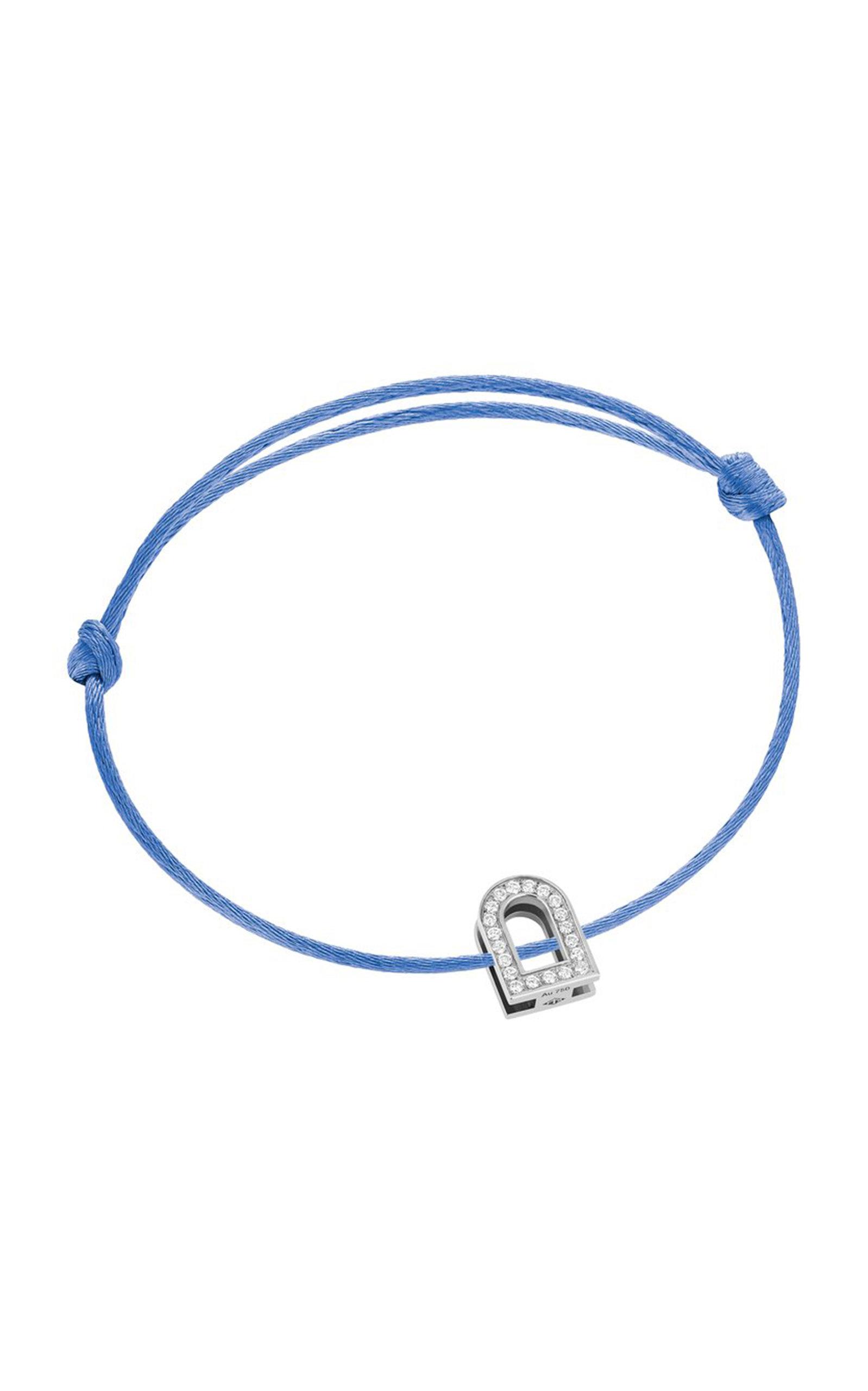 Women's L'Arc Voyage 18K White Gold; Diamond and Silk Cord Bracelet