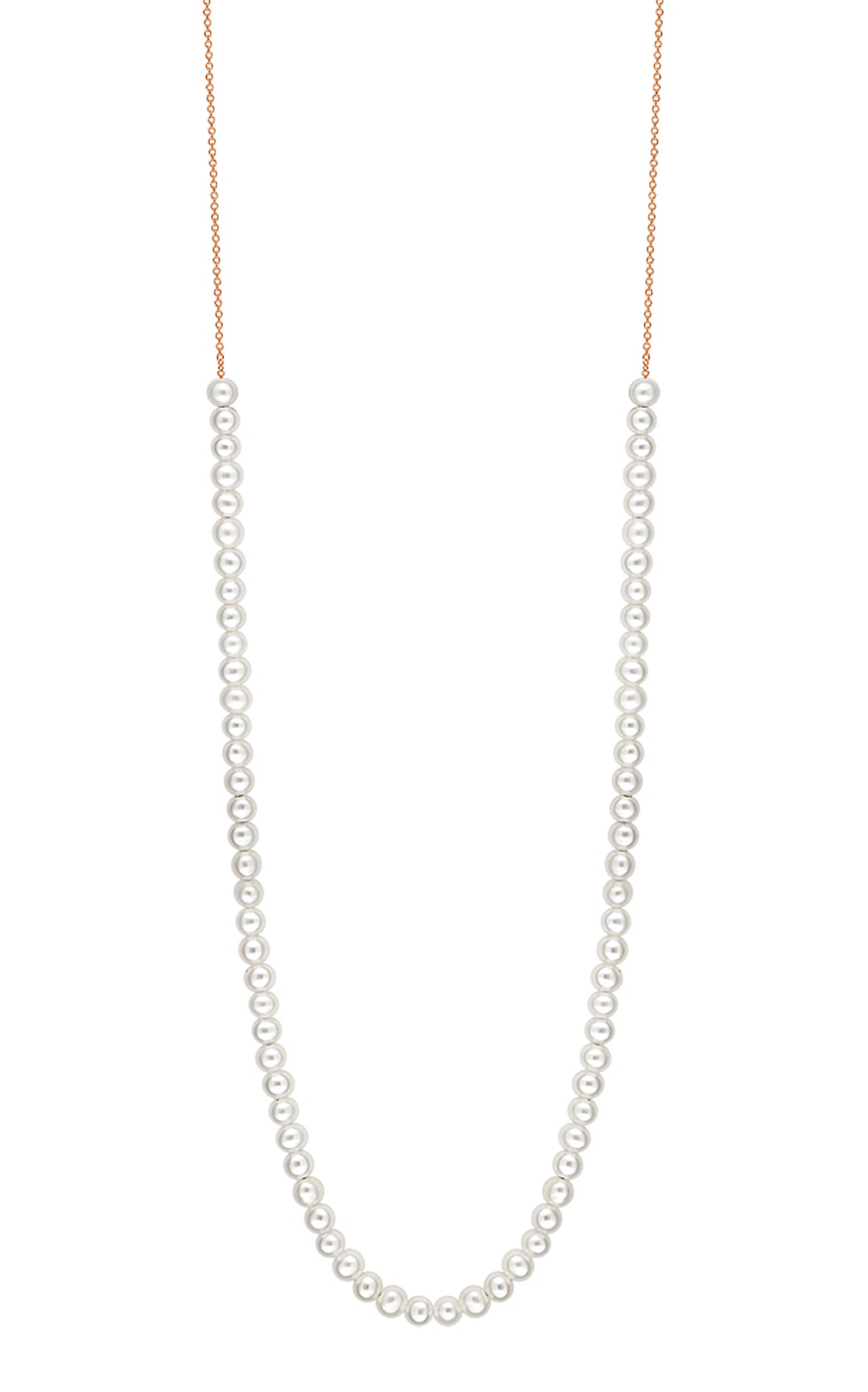 Women's Mini Maria 18K Rose Gold Mother-Of-Pearl Necklace