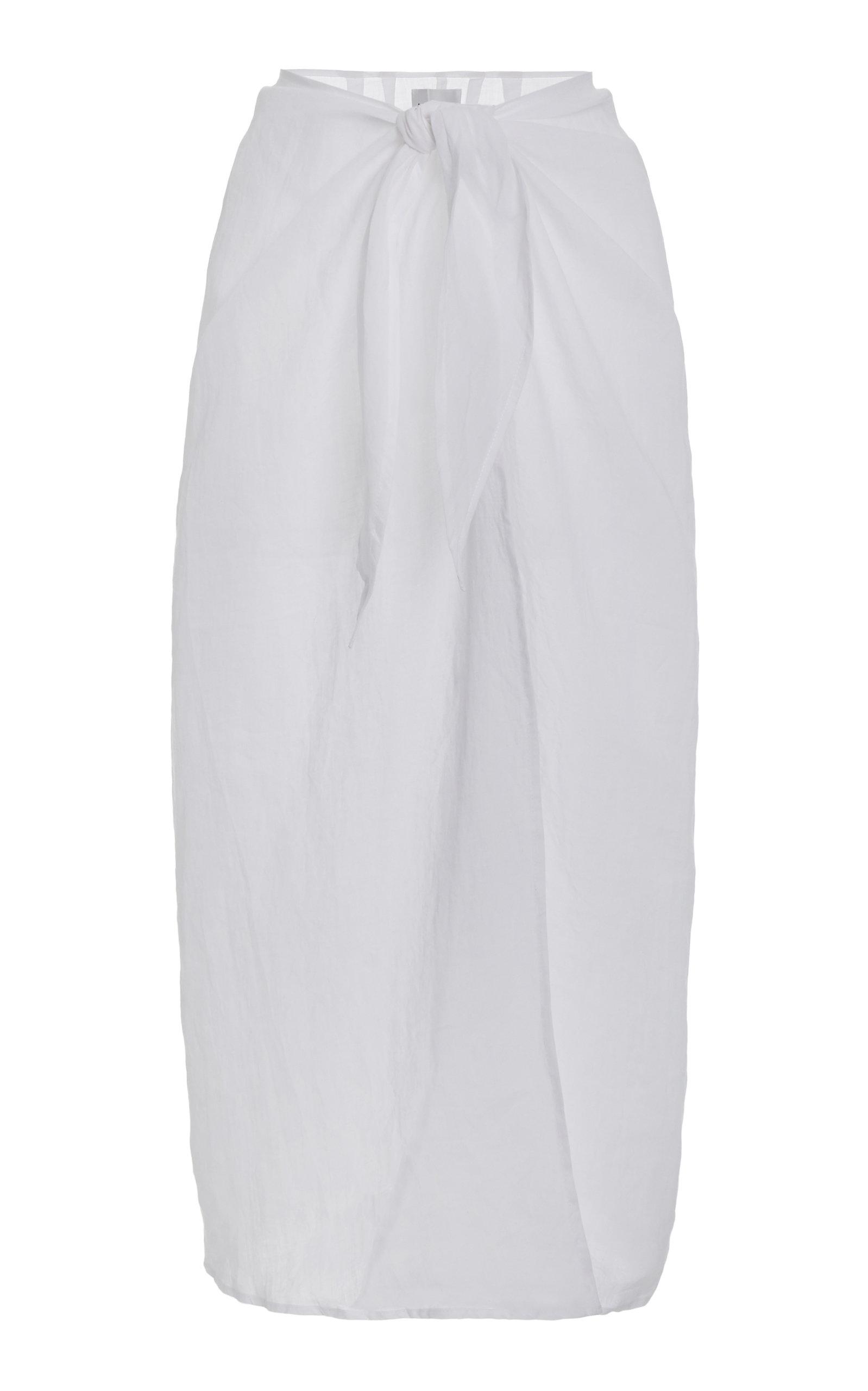 Women's Ramie Maxi Wrap Skirt