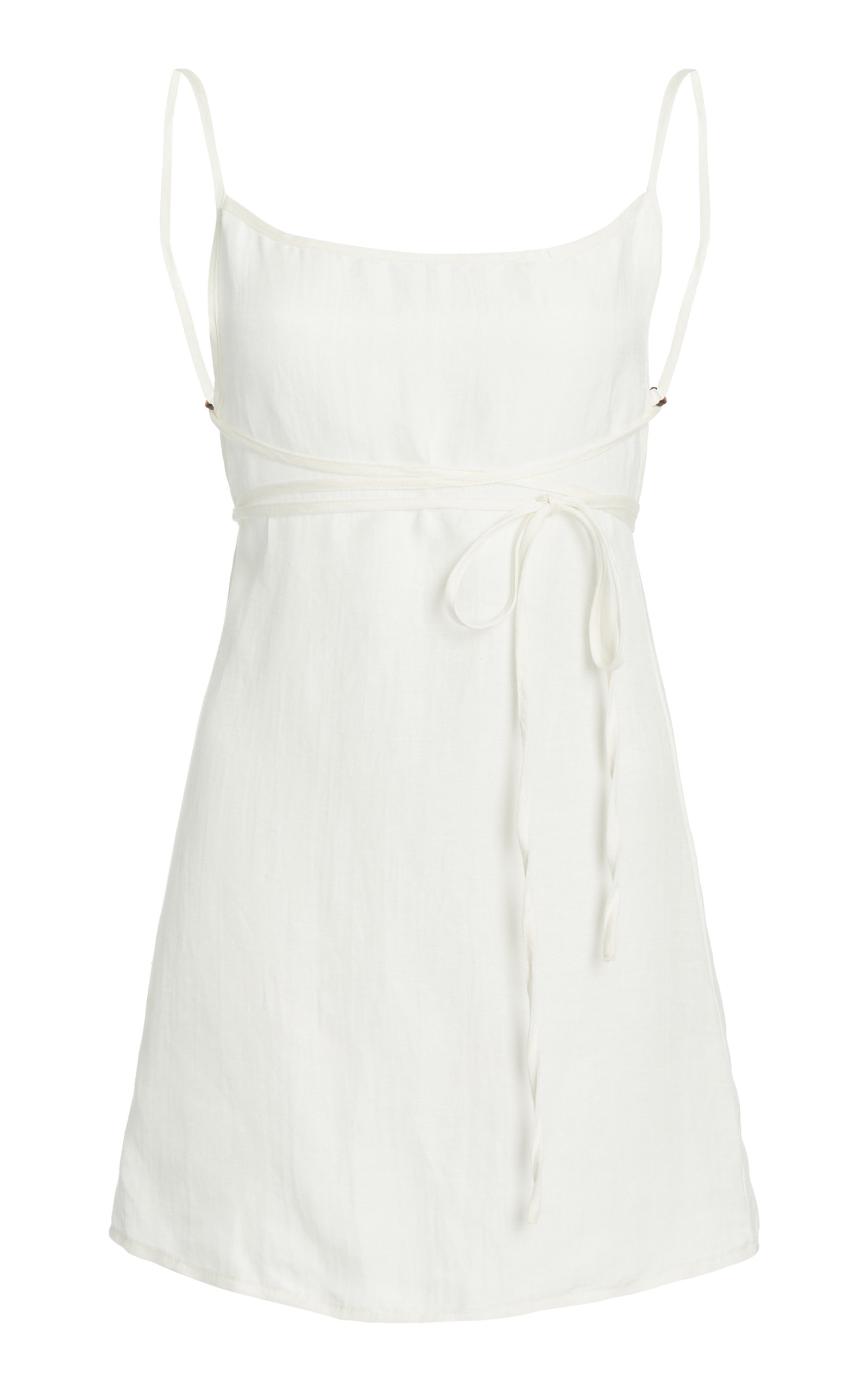 Women's The K.M.Tie Linen Mini Dress