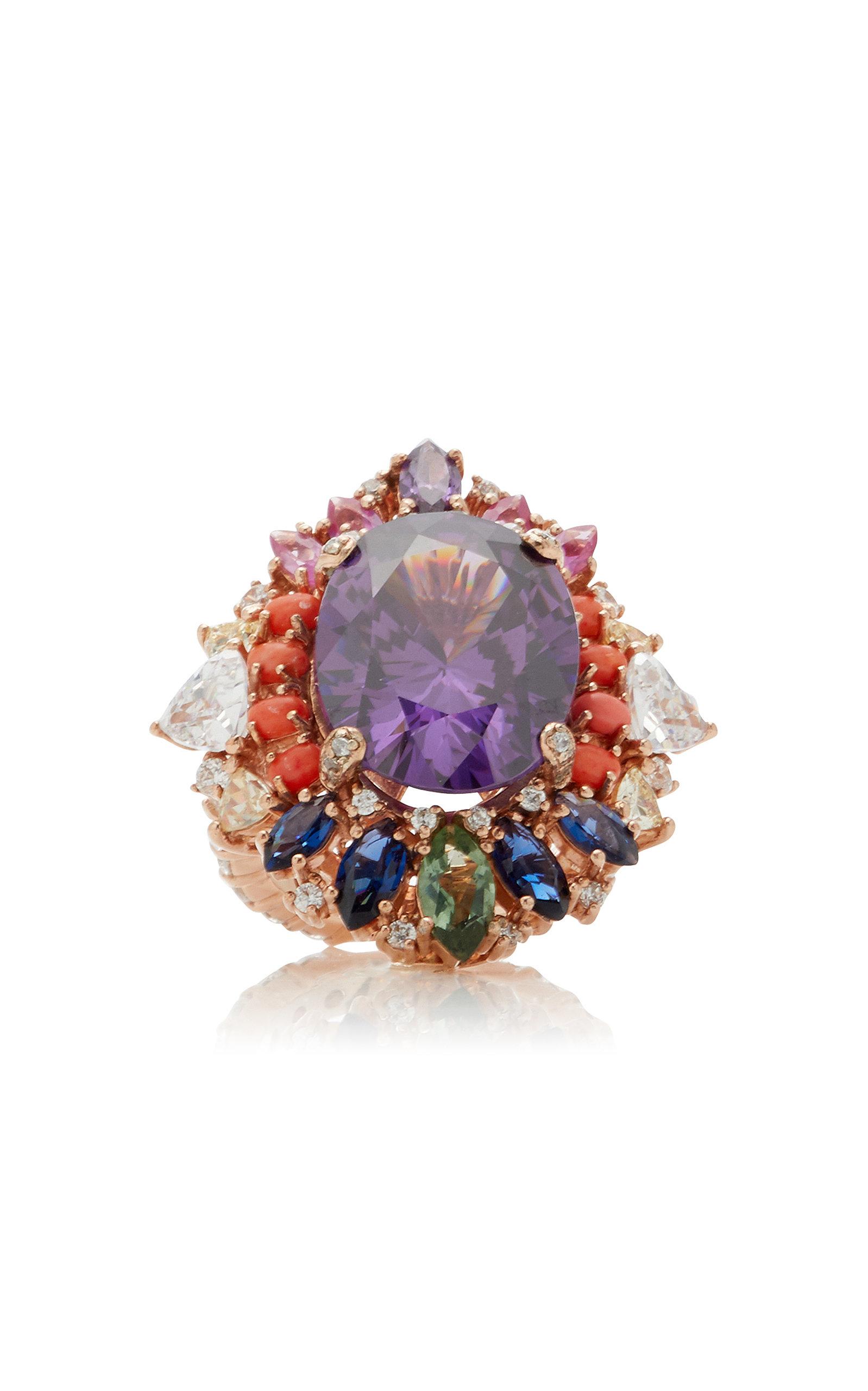 Women's Mirage 18k Rose Gold Vermeil Multi-Stone Ring